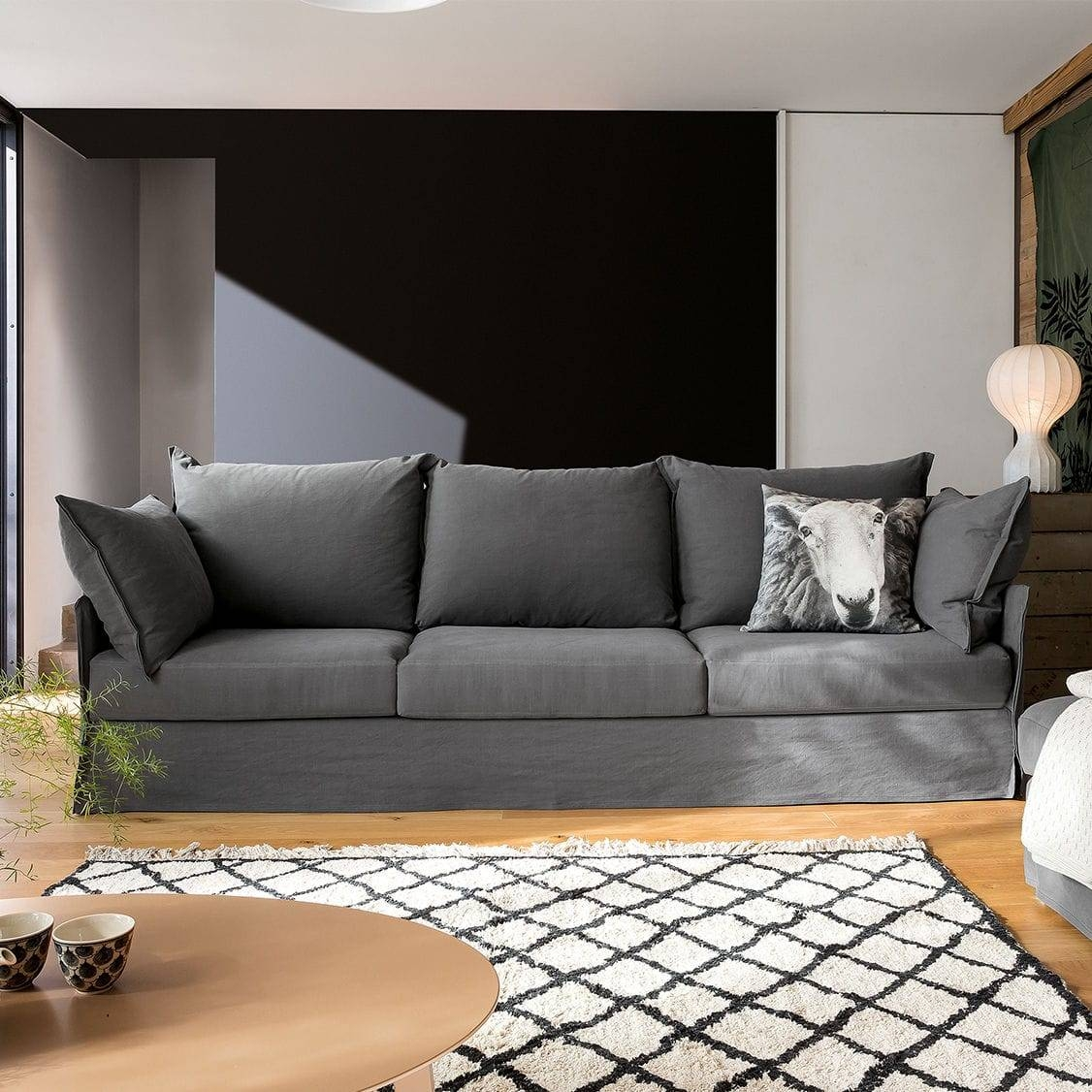 Modular Sofa / Contemporary / 3-Seater / With Removable Cover for Sofas With Removable Covers (Image 16 of 30)
