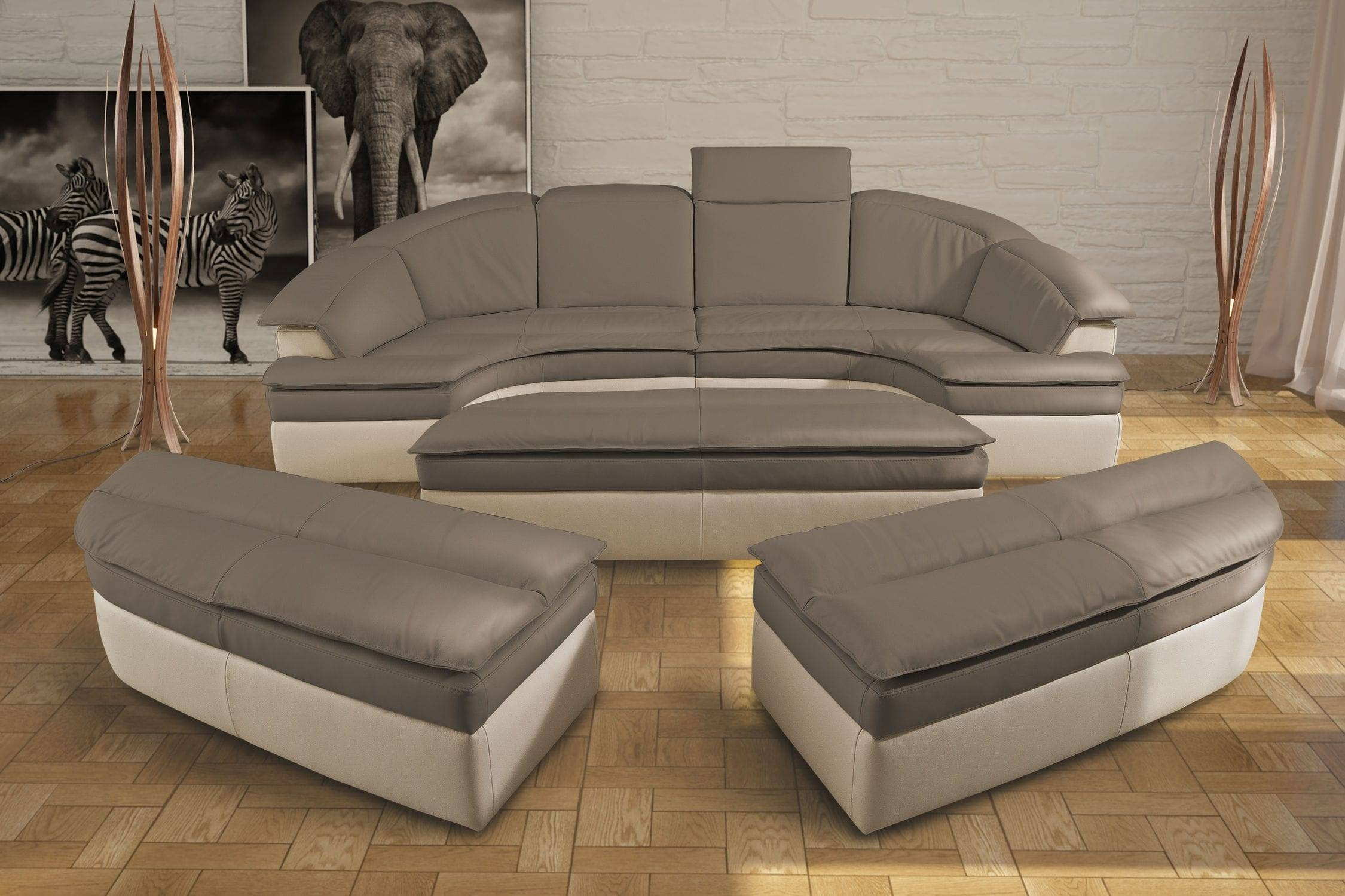 Modular Sofa / Semicircular / Contemporary / Leather - Galaxy throughout Semicircular Sofa (Image 8 of 30)