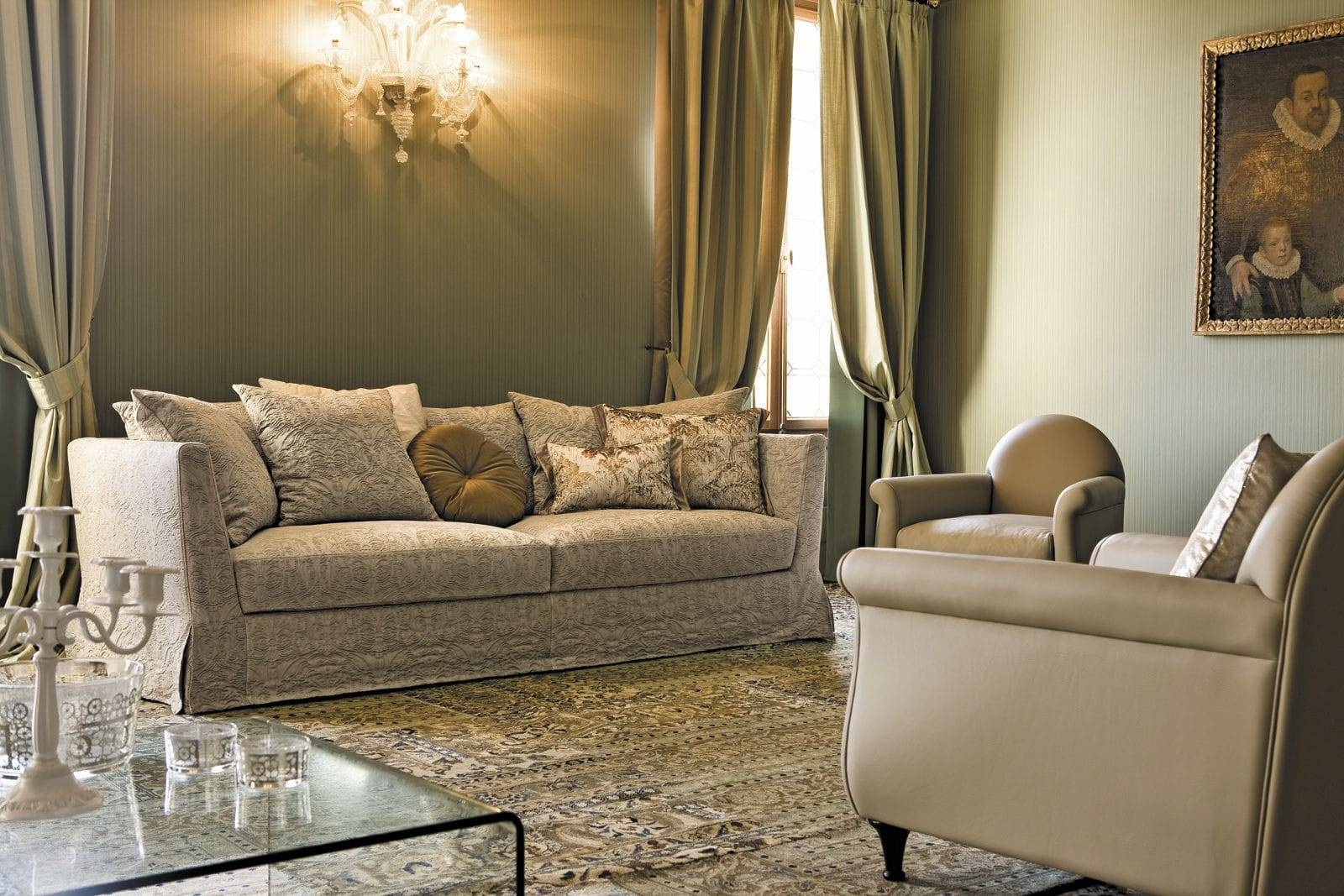 Modular Sofa / Traditional / Fabric / 3-Seater - Boheme - Alberta for Traditional Fabric Sofas (Image 16 of 30)