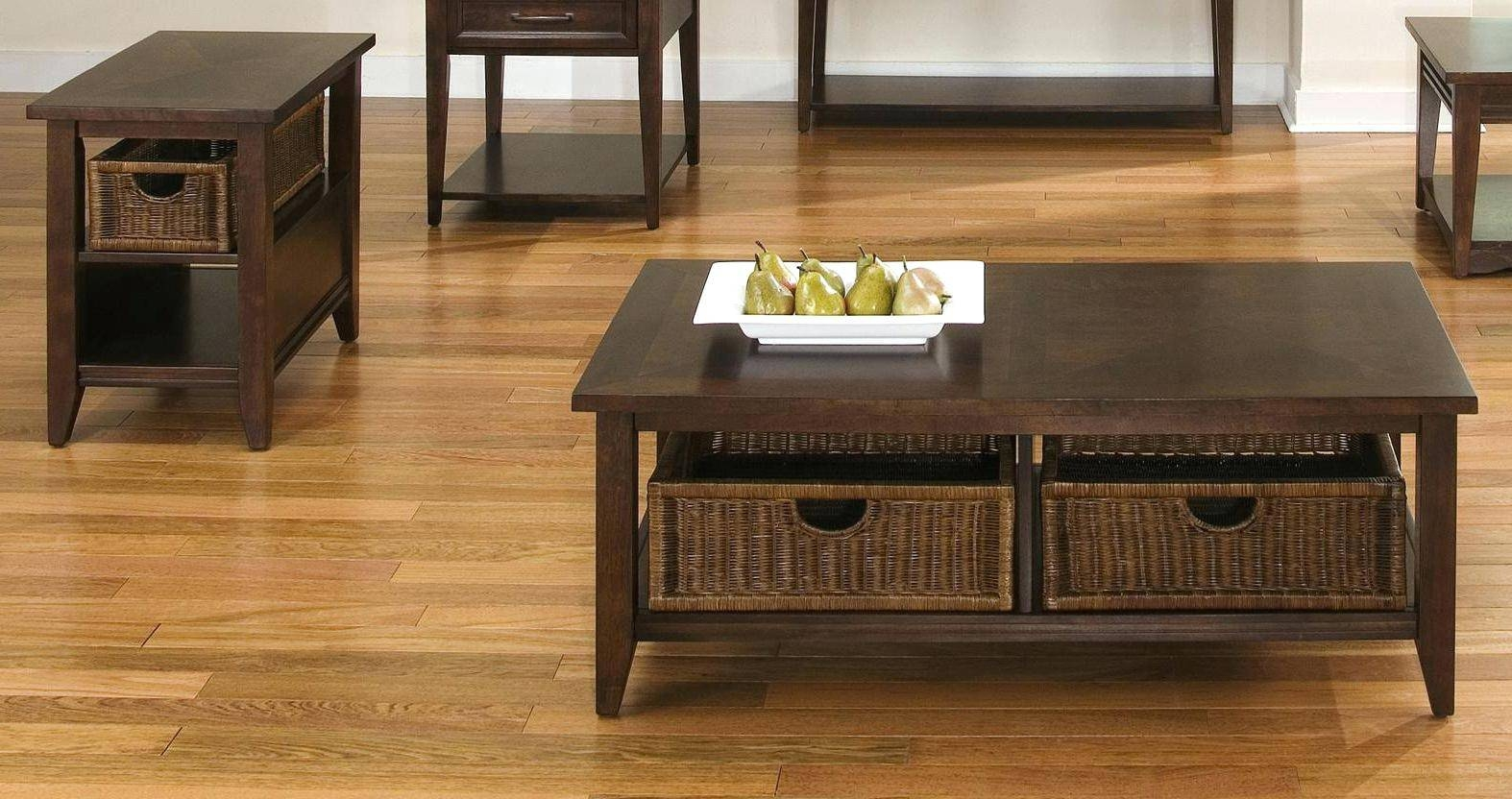 Modular Wire Storage Cubes Modern White Coffee Table With Two in White Coffee Tables With Baskets (Image 26 of 30)