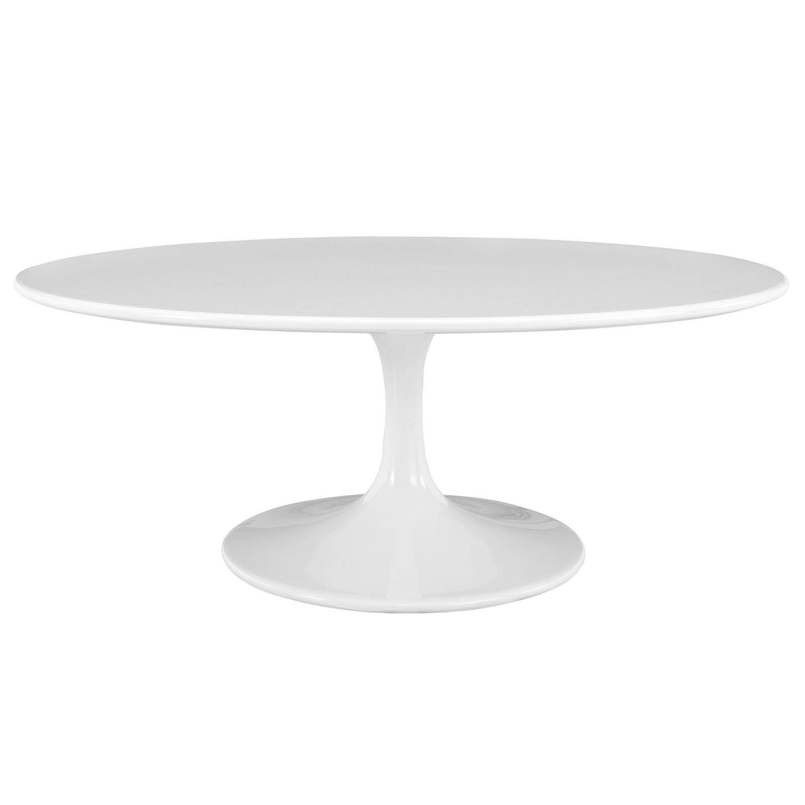Modway Lippa Oval White Fiberglass Coffee Table - Coffee Tables At with regard to Oval White Coffee Tables (Image 22 of 30)