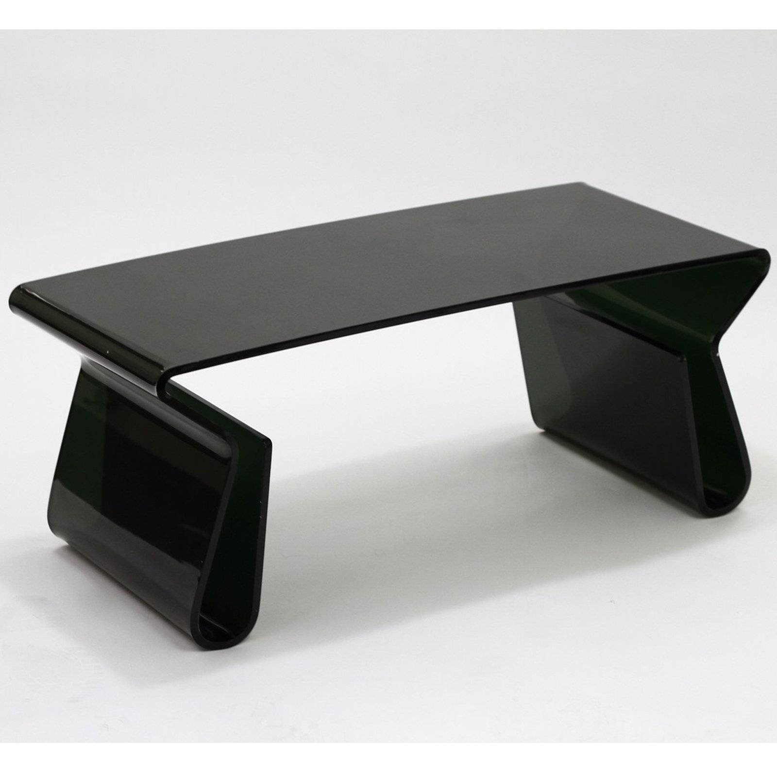 Marvelous Modway Rectangle Black Acrylic Coffee Table With Magazine Holder With  Regard To Acrylic Coffee Tables With