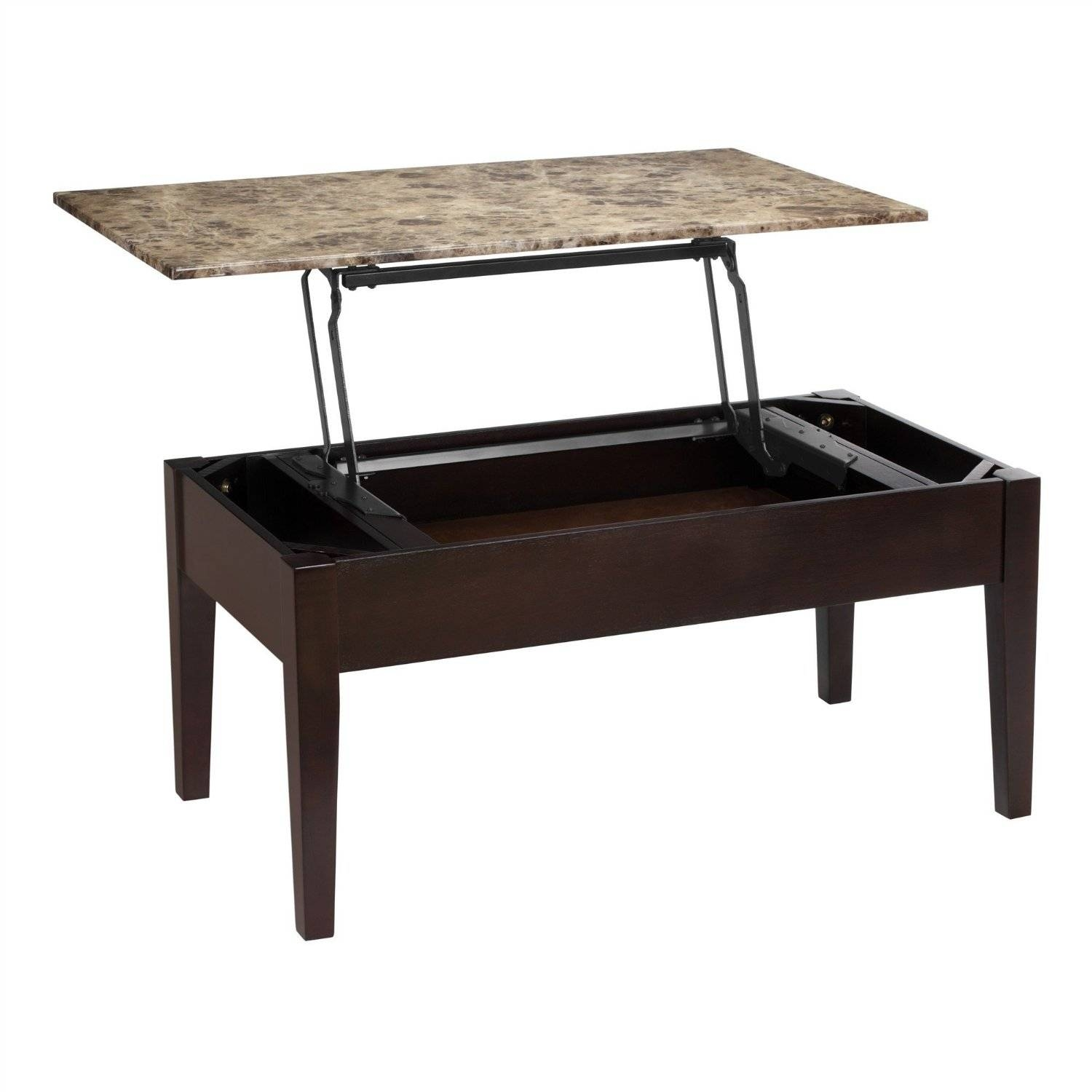 Modway Rectangle Metal And Glass Coffee Table With Lift Top with Glass Lift Top Coffee Tables (Image 18 of 30)