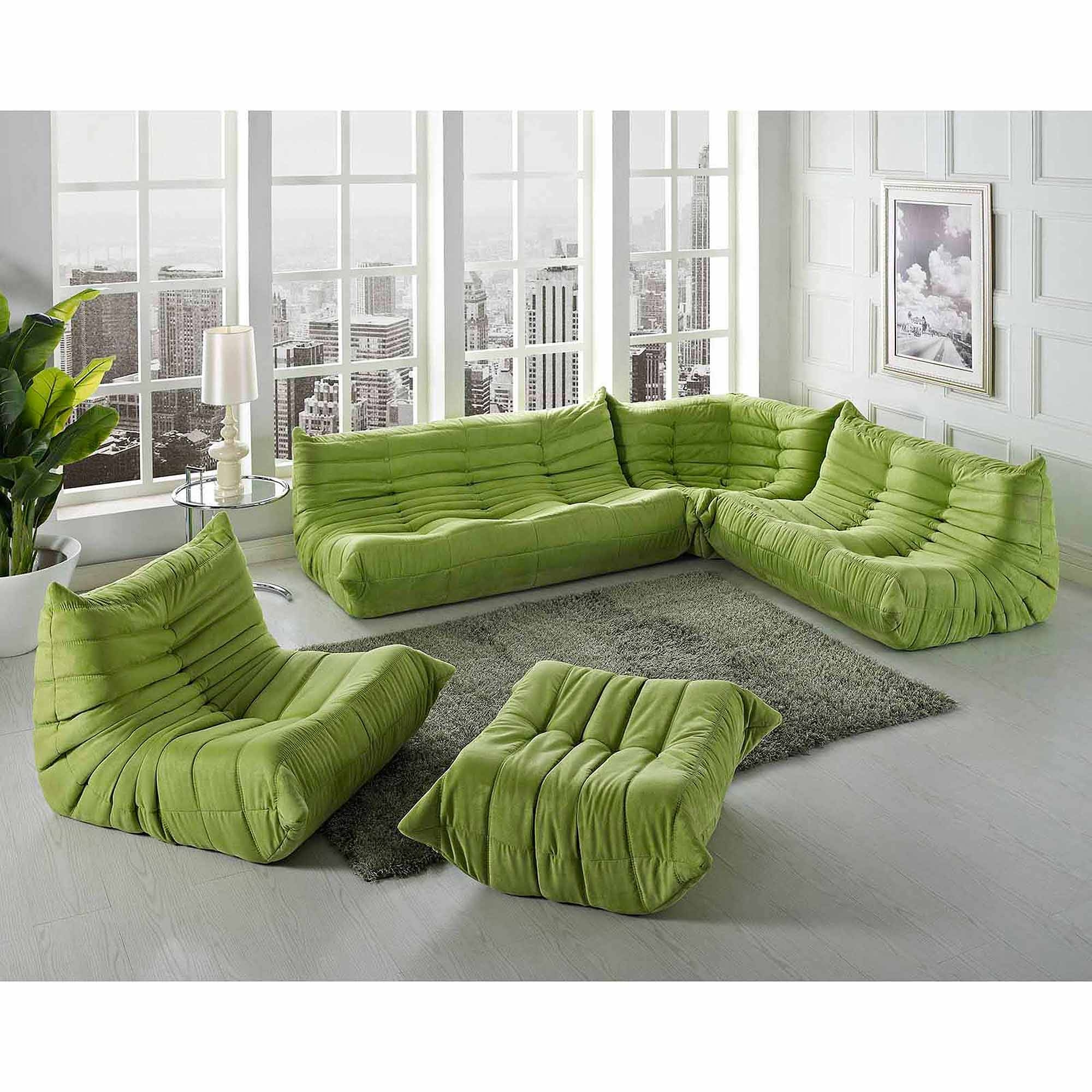30 s Green Sectional Sofa