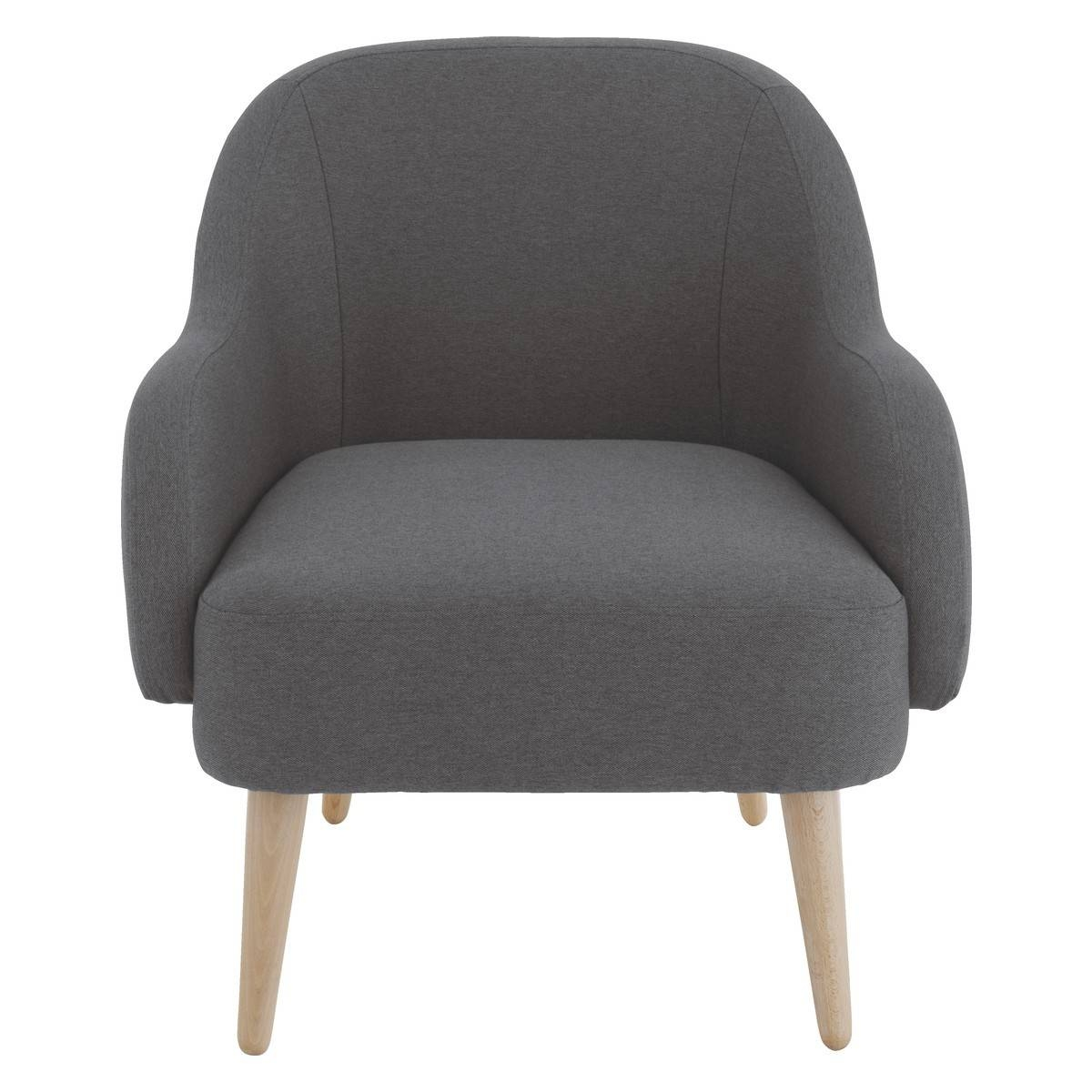 Momo Charcoal Fabric Armchair | Buy Now At Habitat Uk within Fabric Armchairs (Image 20 of 30)