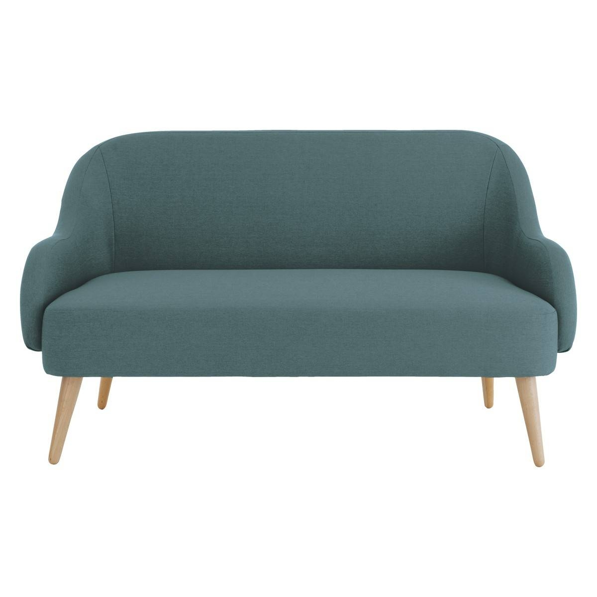 Momo Teal Blue Fabric 2 Seater Sofa | Buy Now At Habitat Uk throughout Two Seater Chairs (Image 14 of 30)
