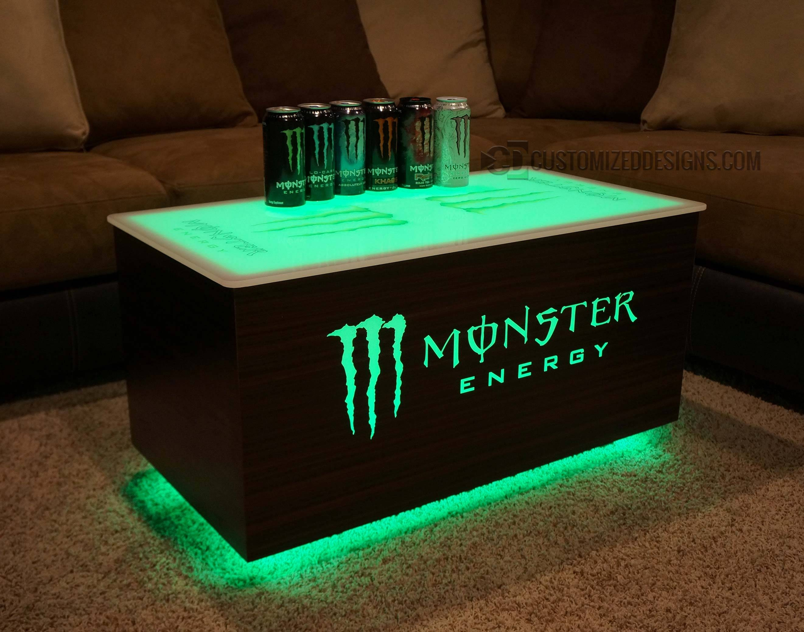 Monster Energy & Absolut Vodka Led Coffee Table with Led Coffee Tables (Image 19 of 30)