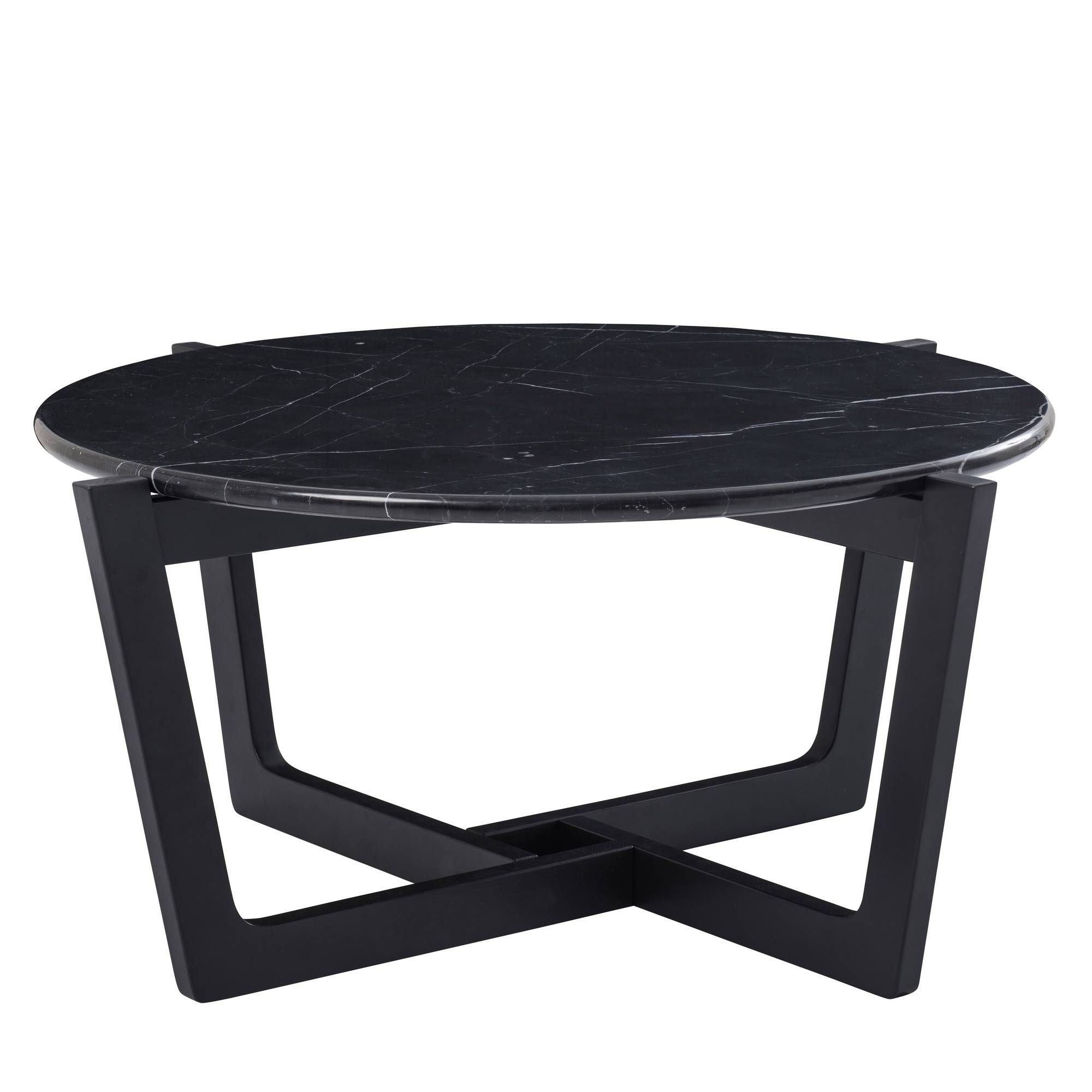 Monterey Black Marble Coffee Table | Temple & Webster regarding Monterey Coffee Tables (Image 17 of 30)