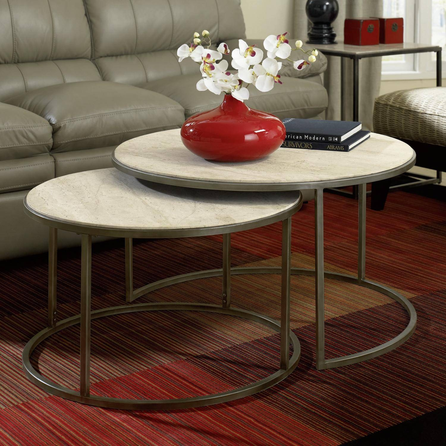Monterey Coffee Table Round Nesting - View Here — Coffee Tables Ideas pertaining to Monterey Coffee Tables (Image 18 of 30)