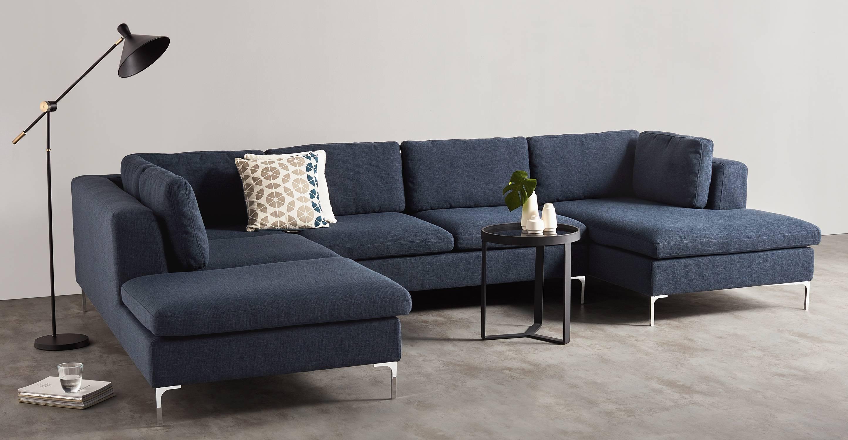 Monterosso Left Hand Facing Corner Sofa, Storm Blue | Made regarding Sofa Corner Units (Image 14 of 30)