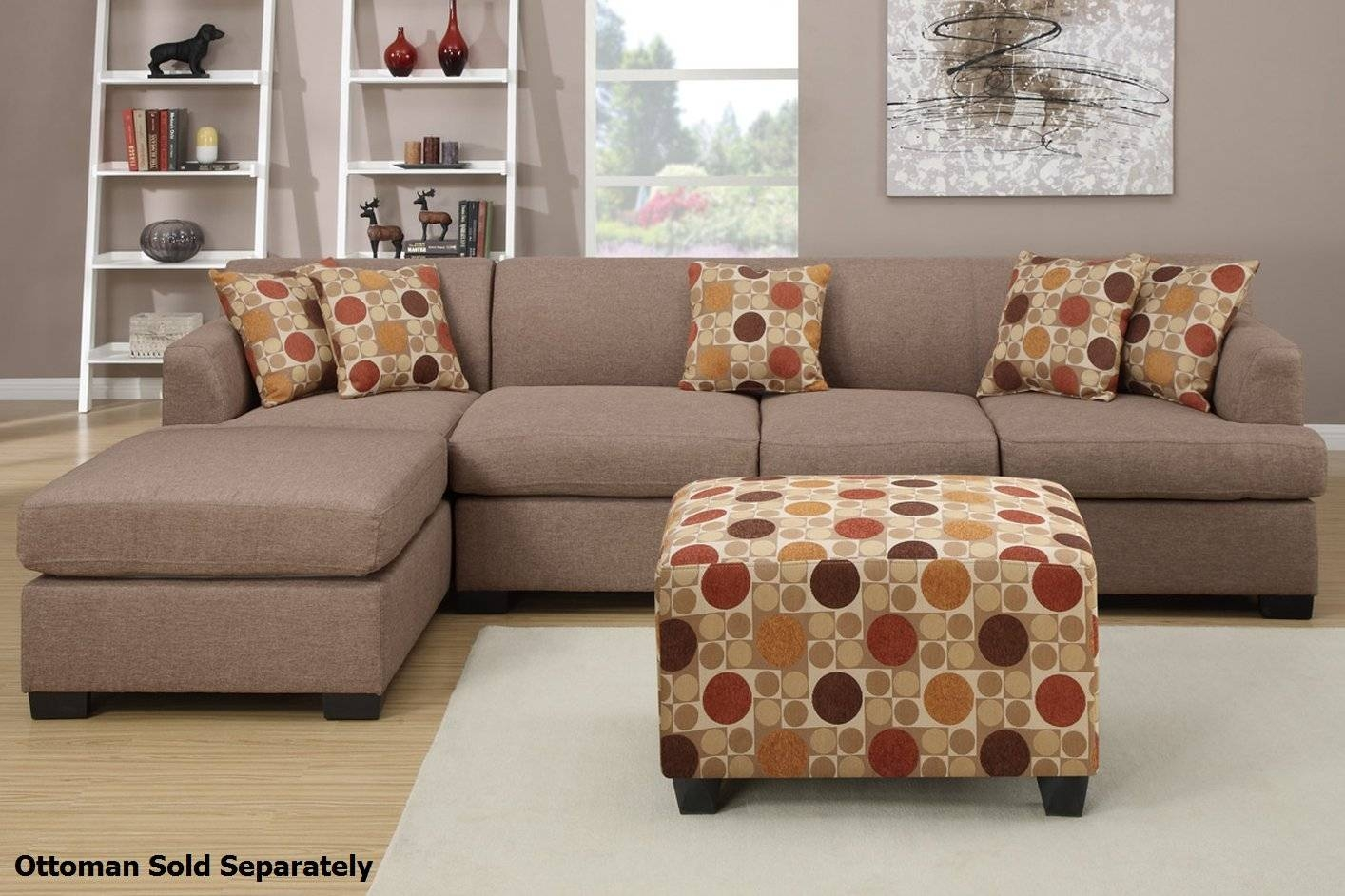 Montreal Iii Beige Fabric Sectional Sofa - Steal-A-Sofa Furniture intended for Fabric Sectional Sofa (Image 22 of 30)