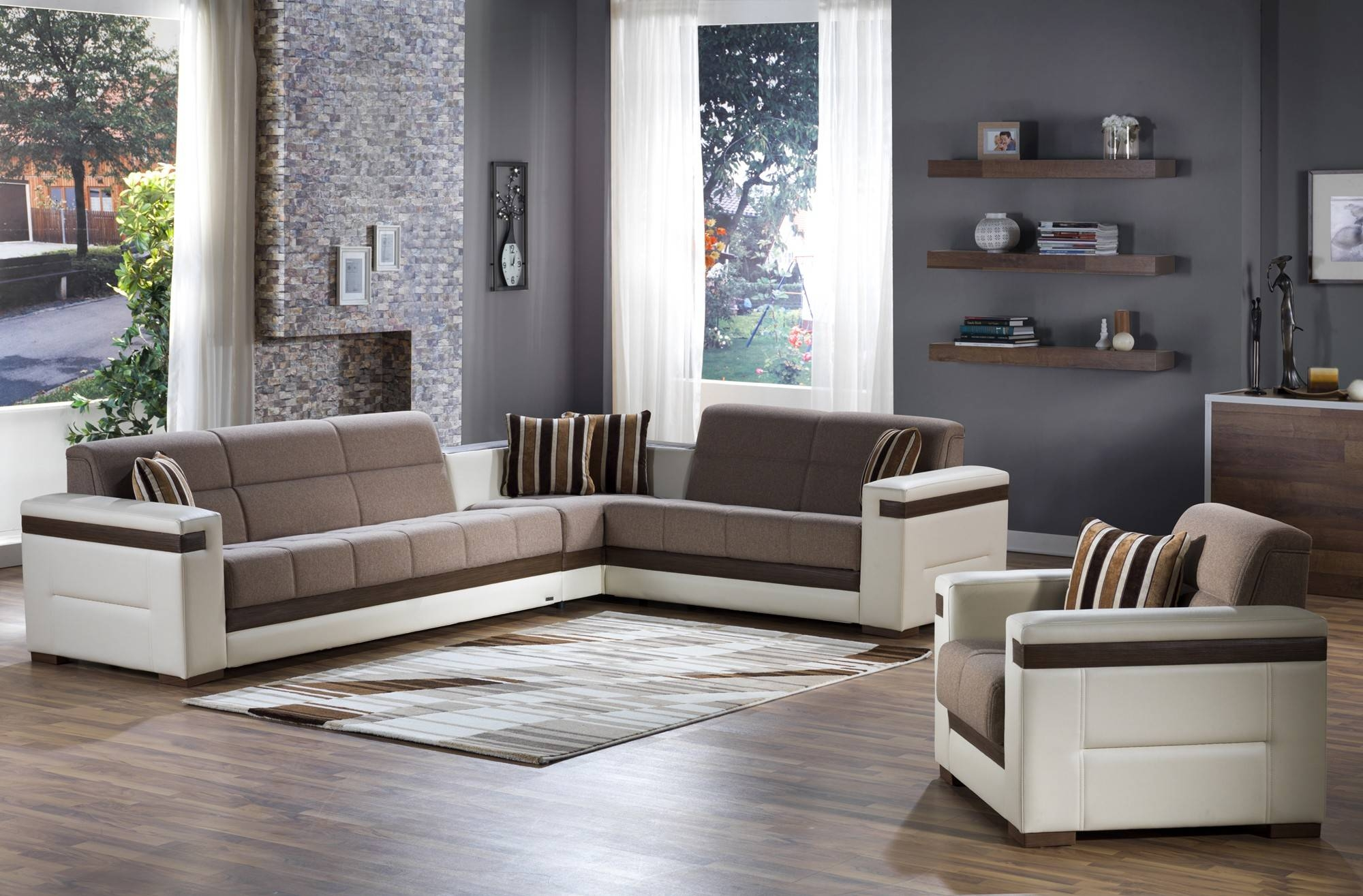 Moon Convertible Sectional Sofa In Platin Mustardistikbal intended for Convertible Sectional Sofas (Image 18 of 30)