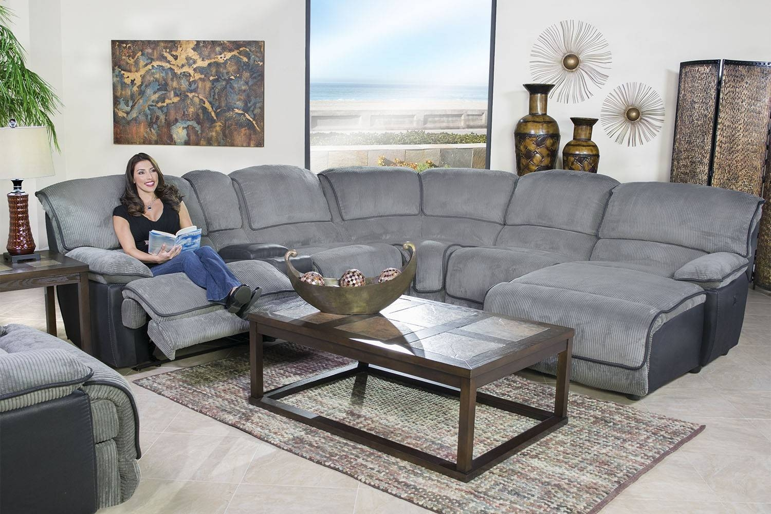 Mor Furniture For Less: The Austin Graphite 6-Piece Right-Facing with regard to Austin Sectional Sofa (Image 9 of 30)