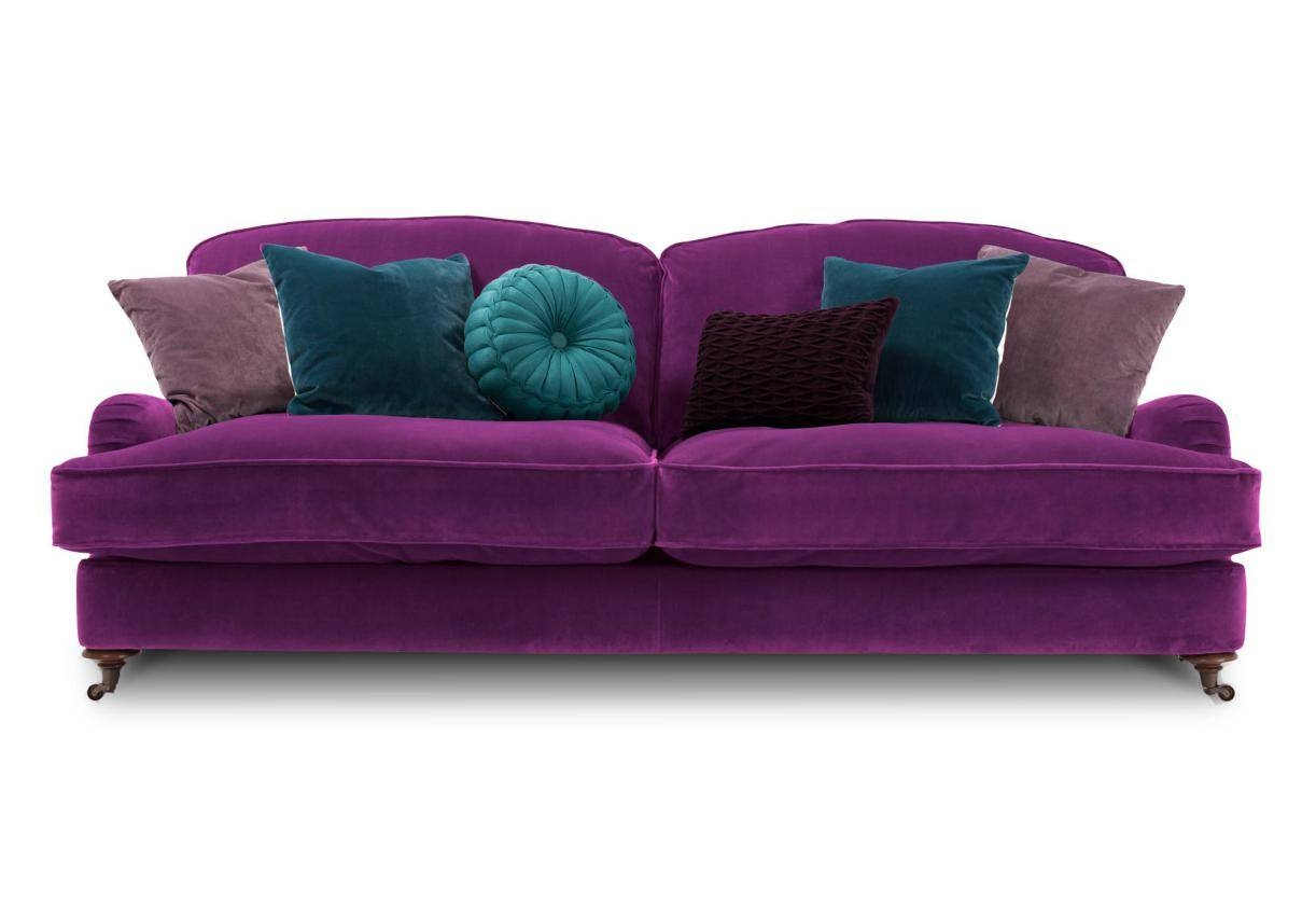 More Comfortable At Home With A Luxurious Comfortable Purple Sofa inside Velvet Purple Sofas (Image 17 of 30)
