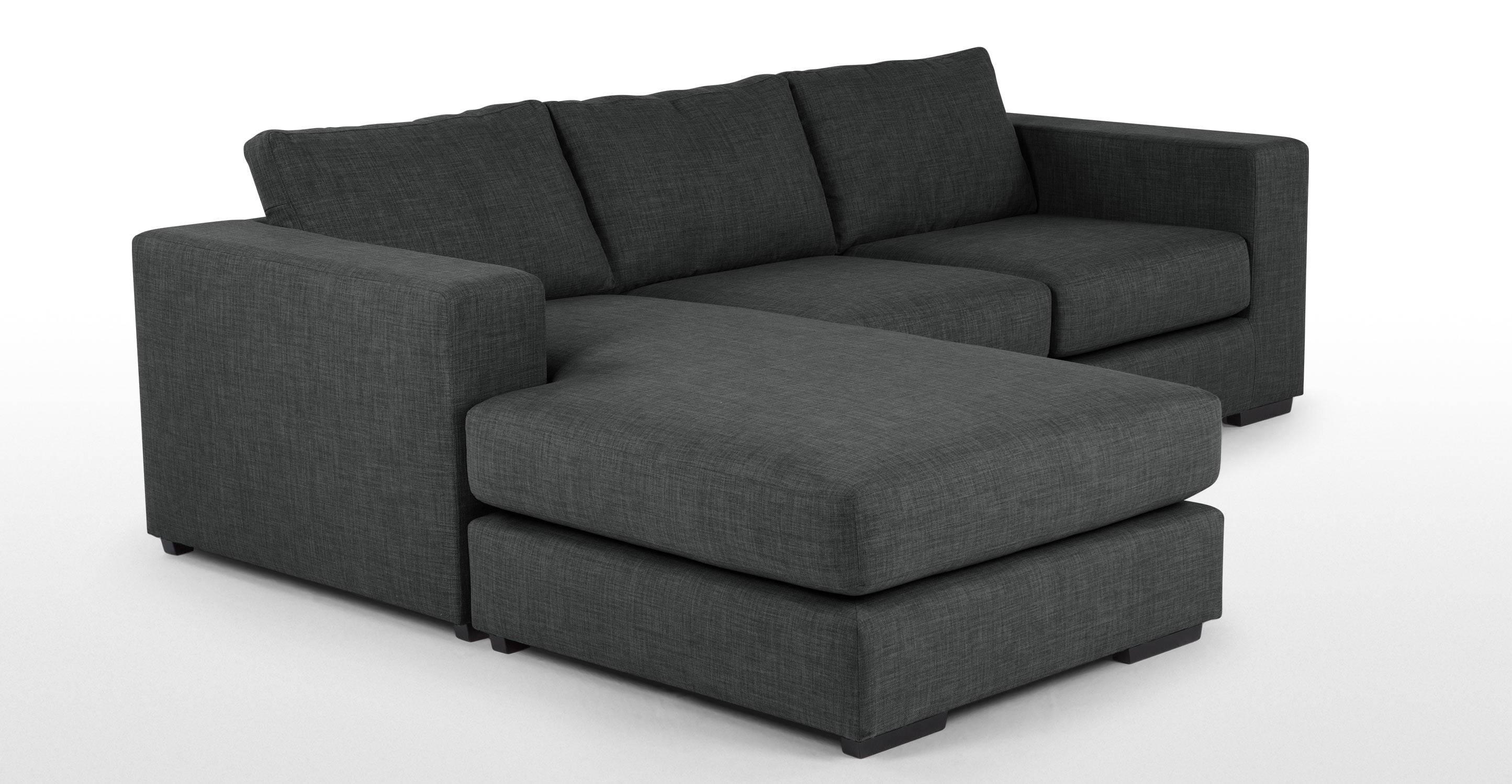 Mortimer 4 Seater Modular Corner Sofa, Shadow Grey | Made with regard to 4 Seat Sofas (Image 24 of 30)