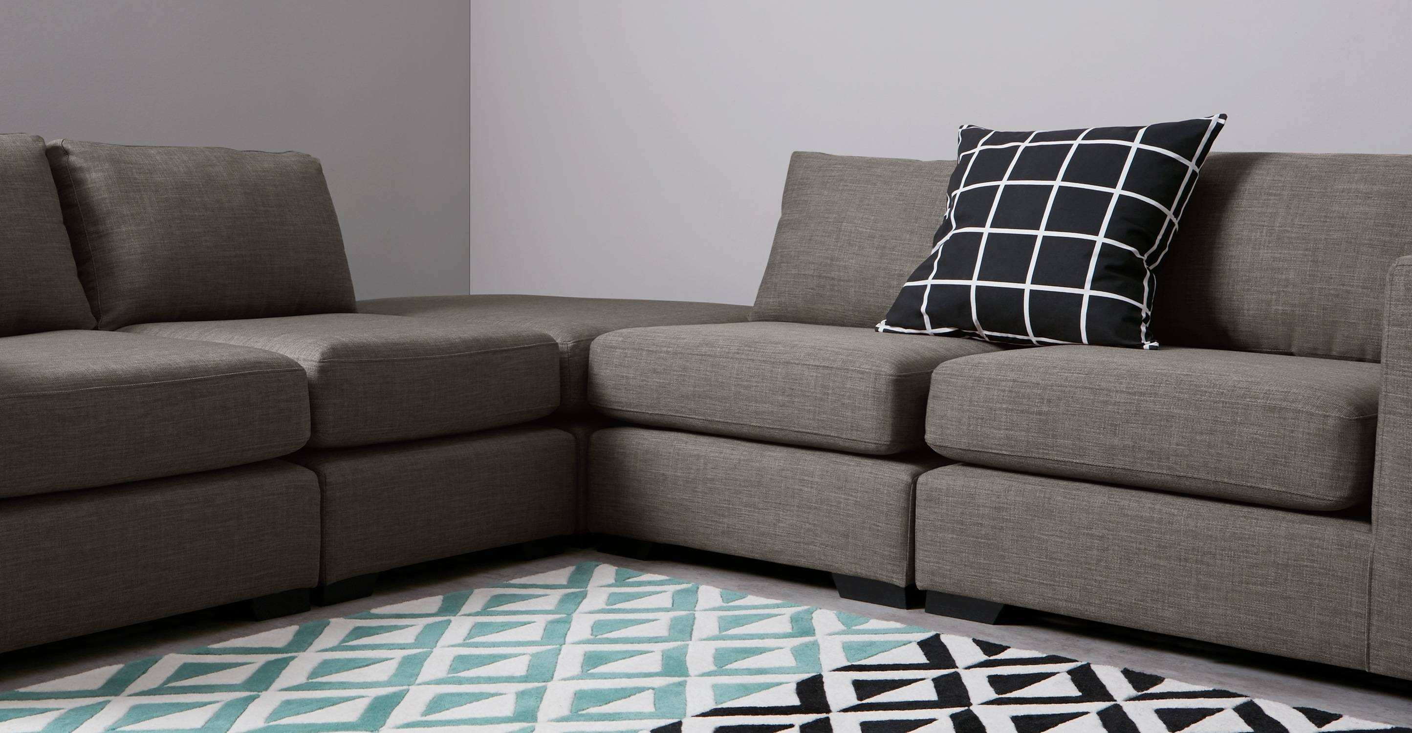 Mortimer Modular Corner Sofa Group, Chalk Grey | Made in Modular Corner Sofas (Image 29 of 30)