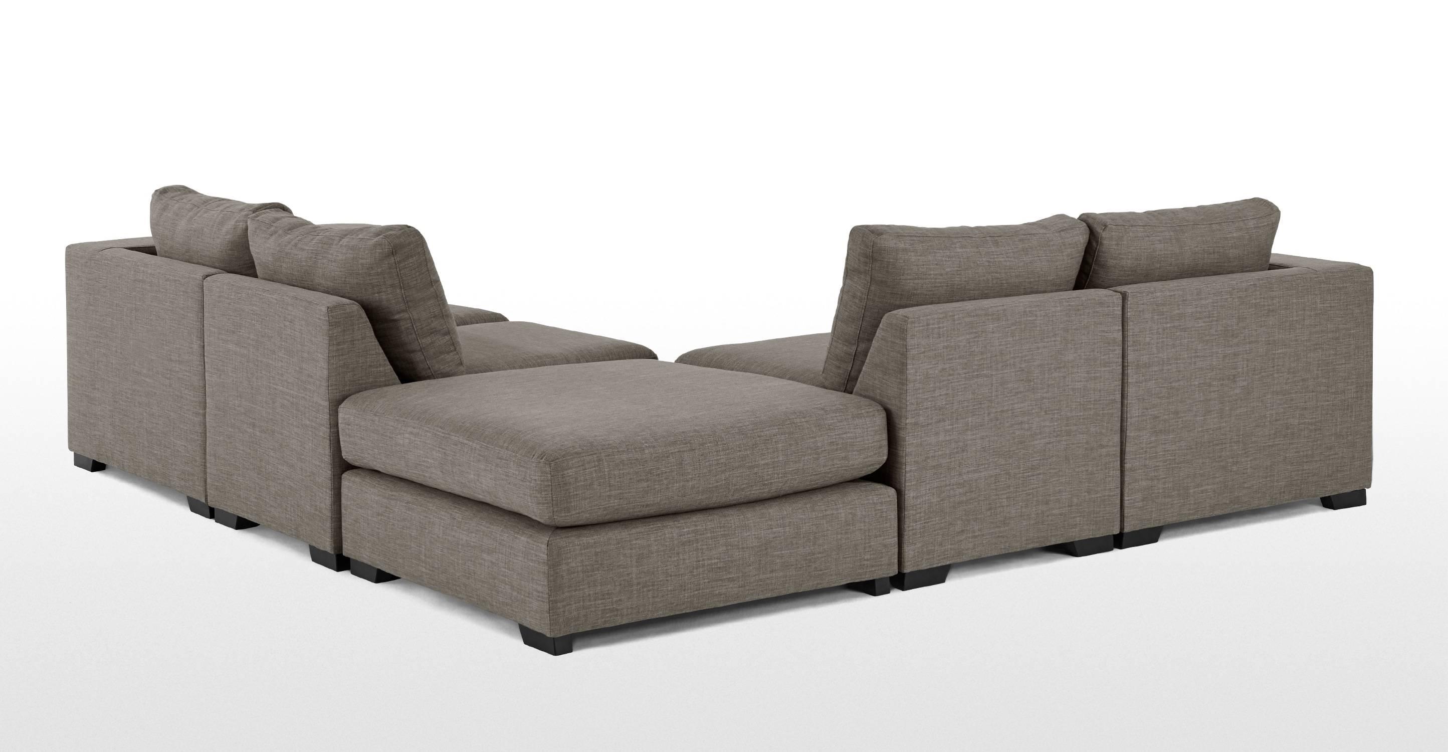 Mortimer Modular Corner Sofa Group, Chalk Grey | Made regarding Modular Corner Sofas (Image 30 of 30)