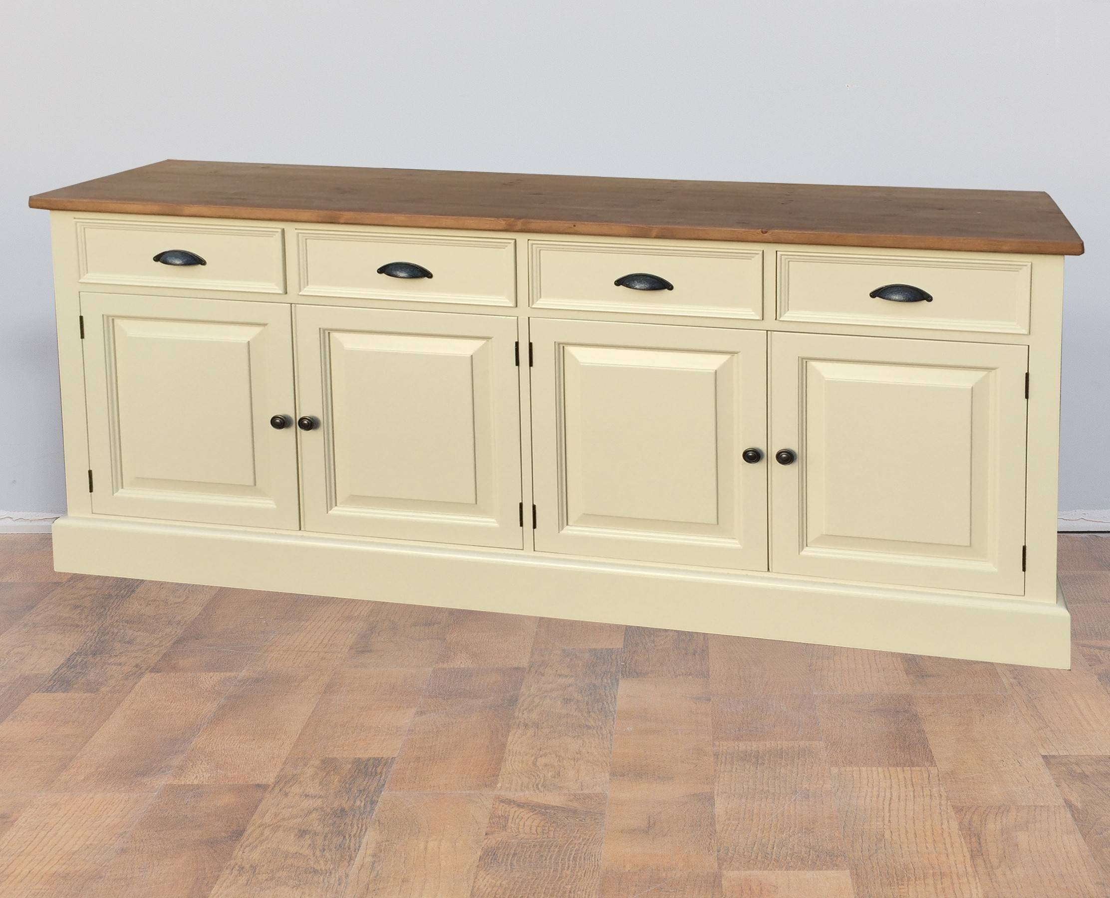 Mottisfont Solid Pine Painted Large Welsh Dresser Sideboard pertaining to Cream Sideboards (Image 14 of 30)