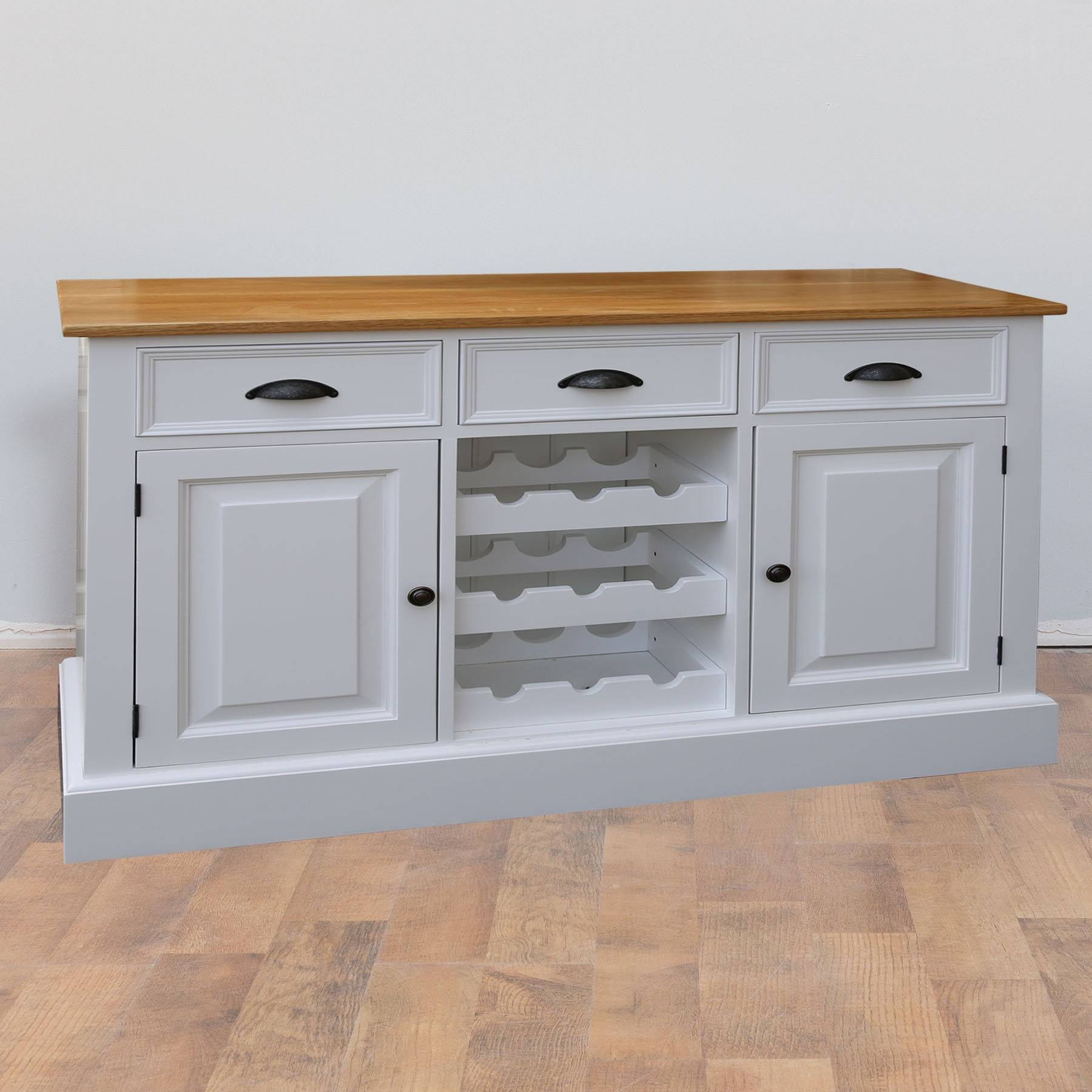Mottisfont Solid Pine Painted Provence Sideboard | Furniture4Yourhome throughout Sideboards for Sale (Image 14 of 30)