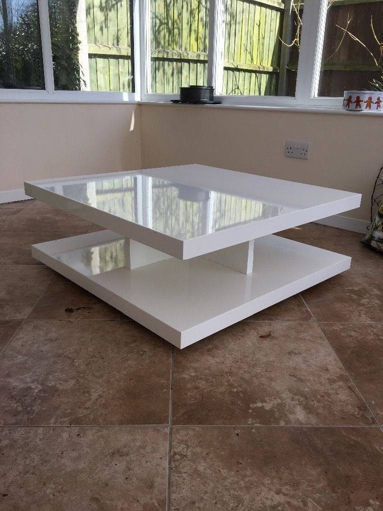 M&s Designer Goss White Coffee Table In Very Good Condition | In with regard to M&s Coffee Tables (Image 13 of 30)