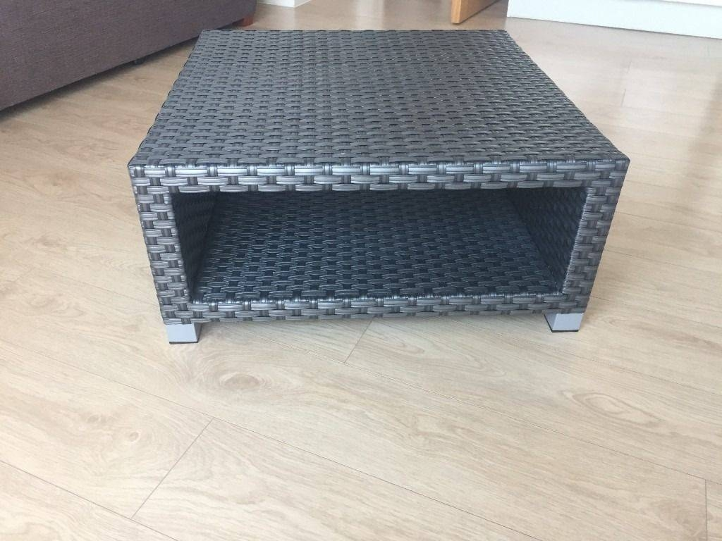M&s Rattan Grey Garden / Coffee Table 75X75X35 | In Lambeth inside M&s Coffee Tables (Image 19 of 30)
