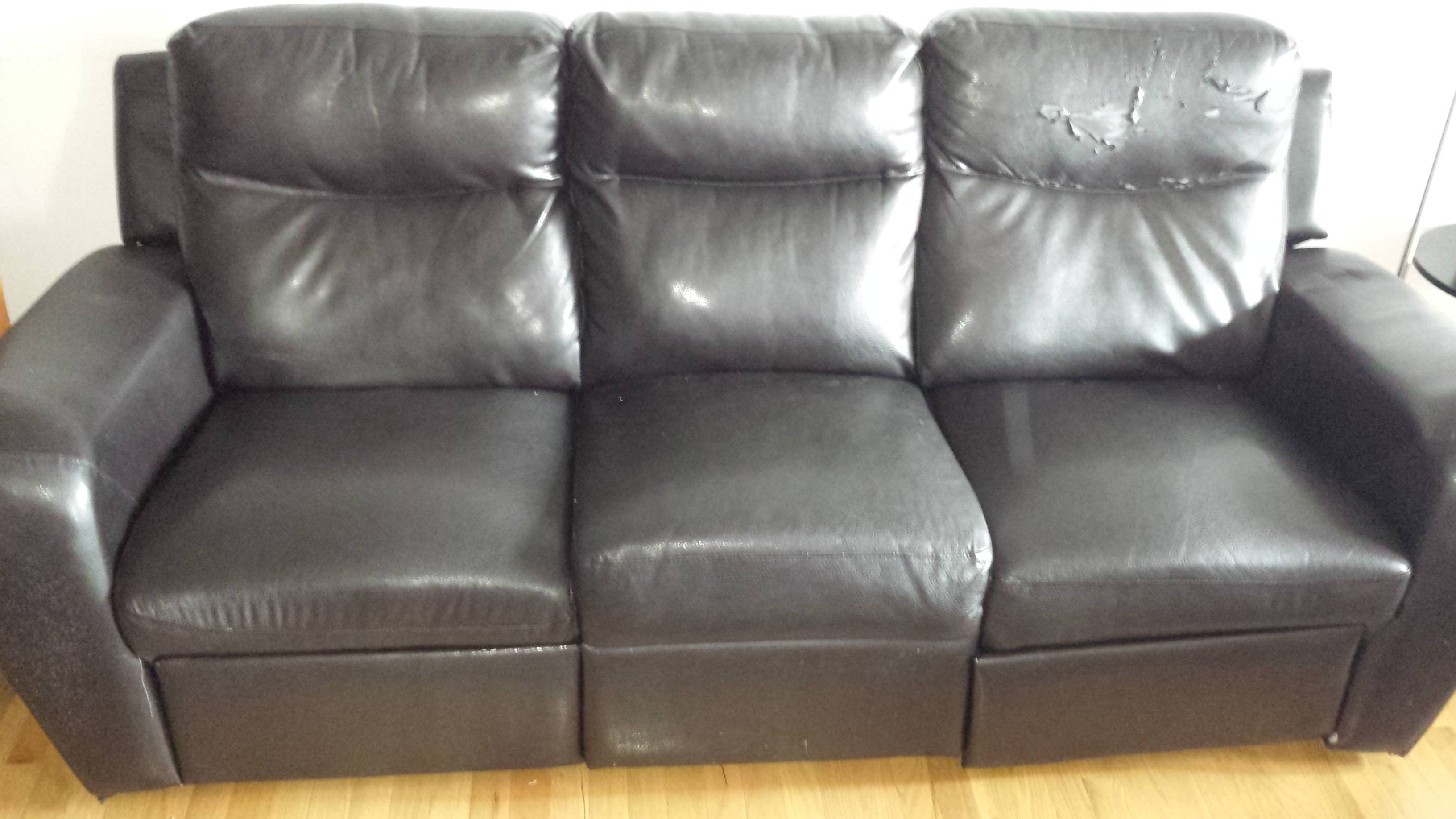 My Bonded Leather Couch (Bought In 2011) From The Brick Is Falling intended for The Brick Leather Sofa (Image 17 of 30)