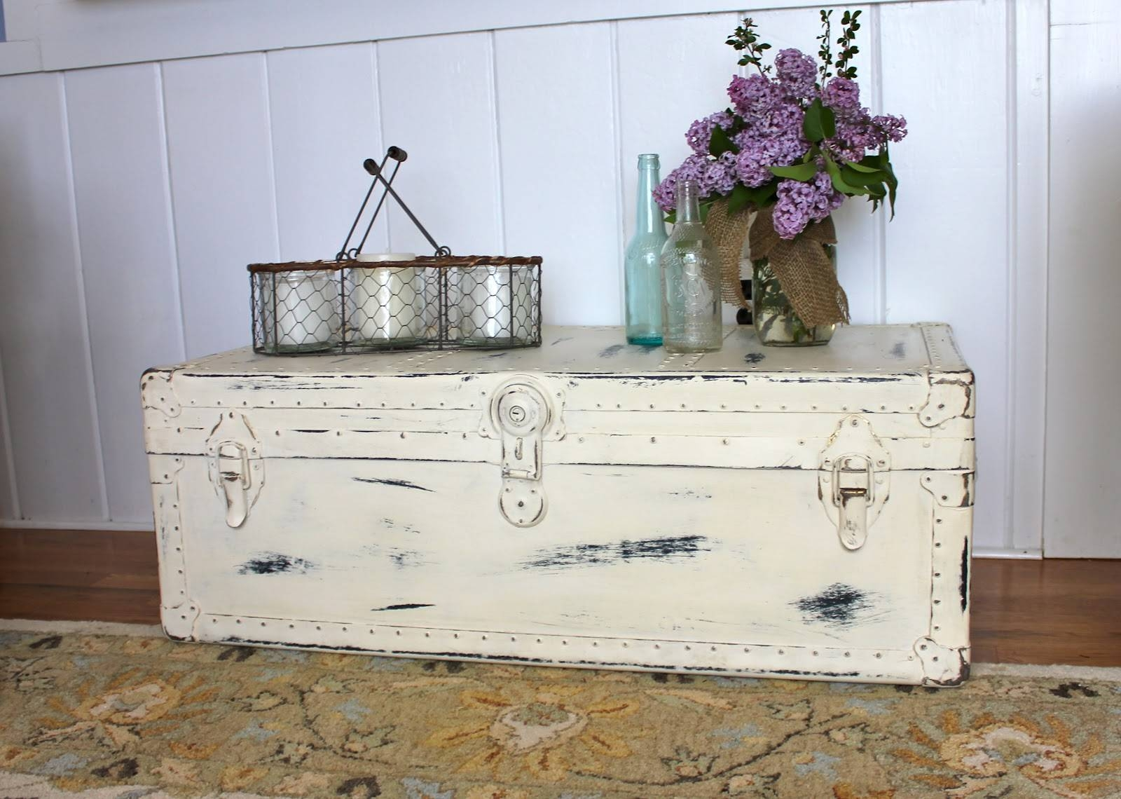My Passion For Decor: Neglected Steamer Trunk Makeover for Old Trunks As Coffee Tables (Image 18 of 30)