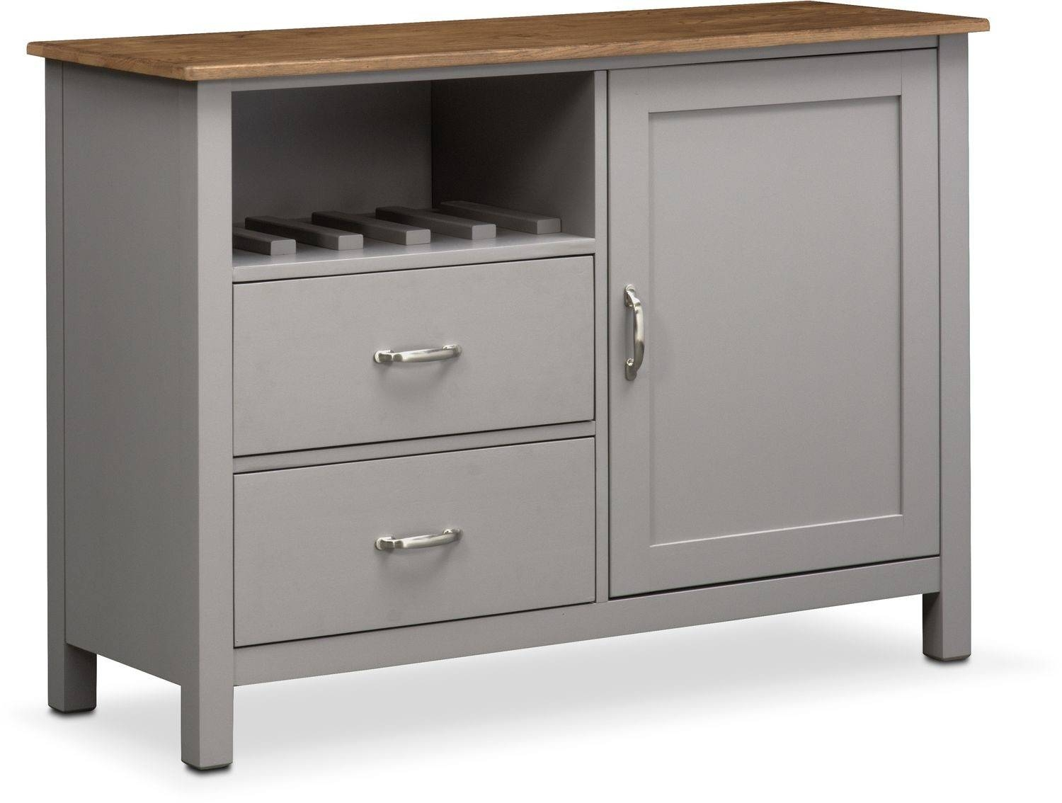 Nantucket Sideboard - Oak And Gray | Value City Furniture inside Grey Sideboards (Image 14 of 30)