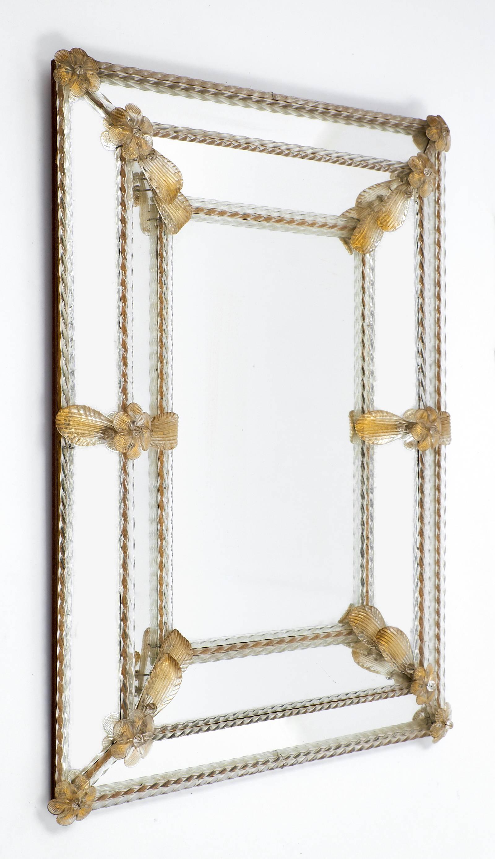 "Napoleon Iii Period ""Avventurina"" Gold Venetian Mirror - Jean Marc for Gold Venetian Mirrors (Image 14 of 25)"