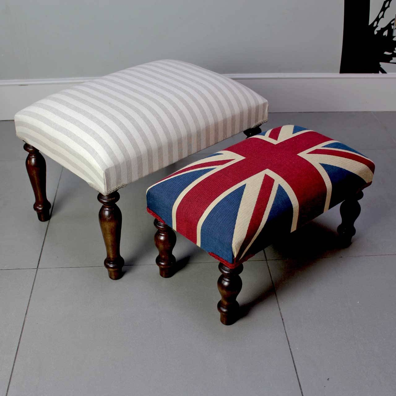 Napoleonrockefeller | Collectables, Vintage And Painted Furniture pertaining to Upholstered Footstools (Image 11 of 30)