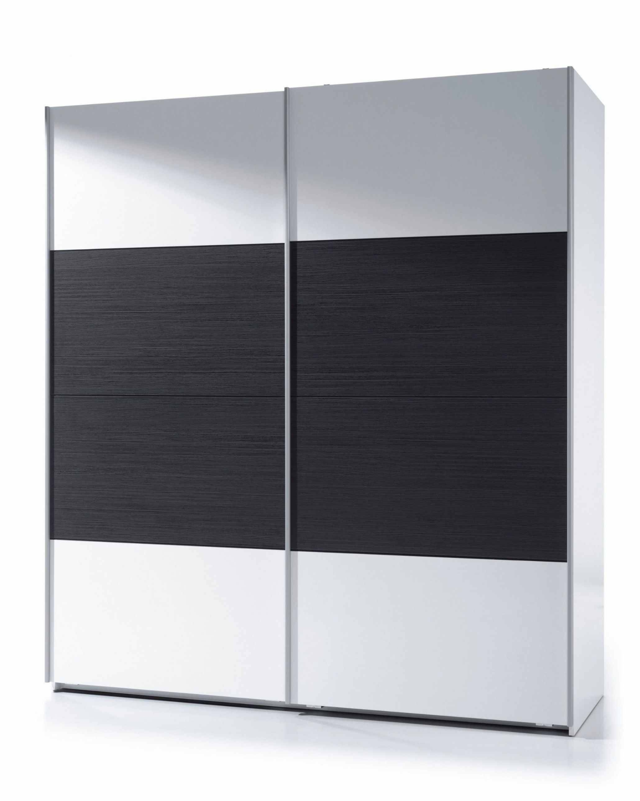 Napoli Black Wood And White Gloss Sliding Wardrobe – Bedroom Furniture In Black Wood Wardrobes (View 11 of 15)