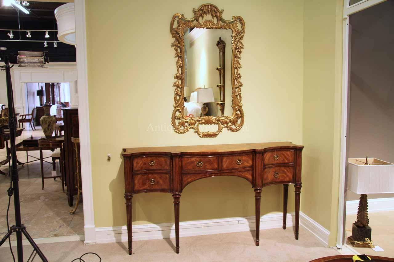 Narrow Mahogany Sideboard For Dining Room Great Console Table pertaining to Narrow Sideboards (Image 12 of 30)