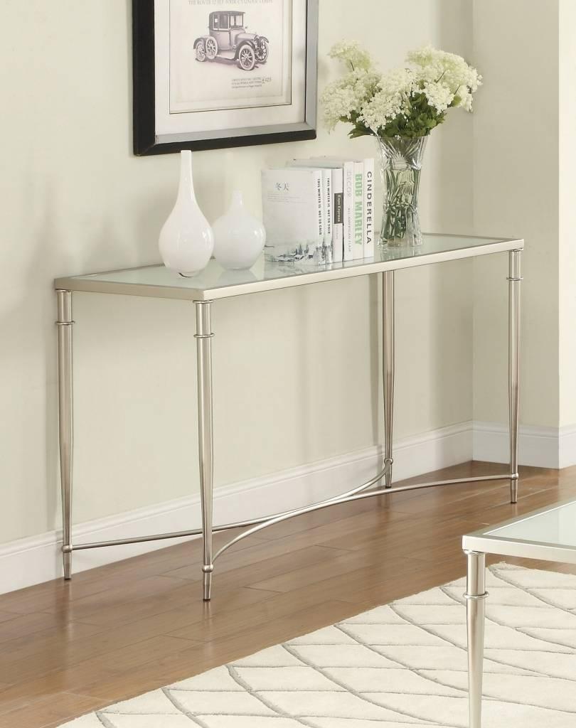 Narrow Metal Sofa Table For Homeresistancesdefemmes Inside Metal Glass Sofa Tables (Photo 22 of 30)