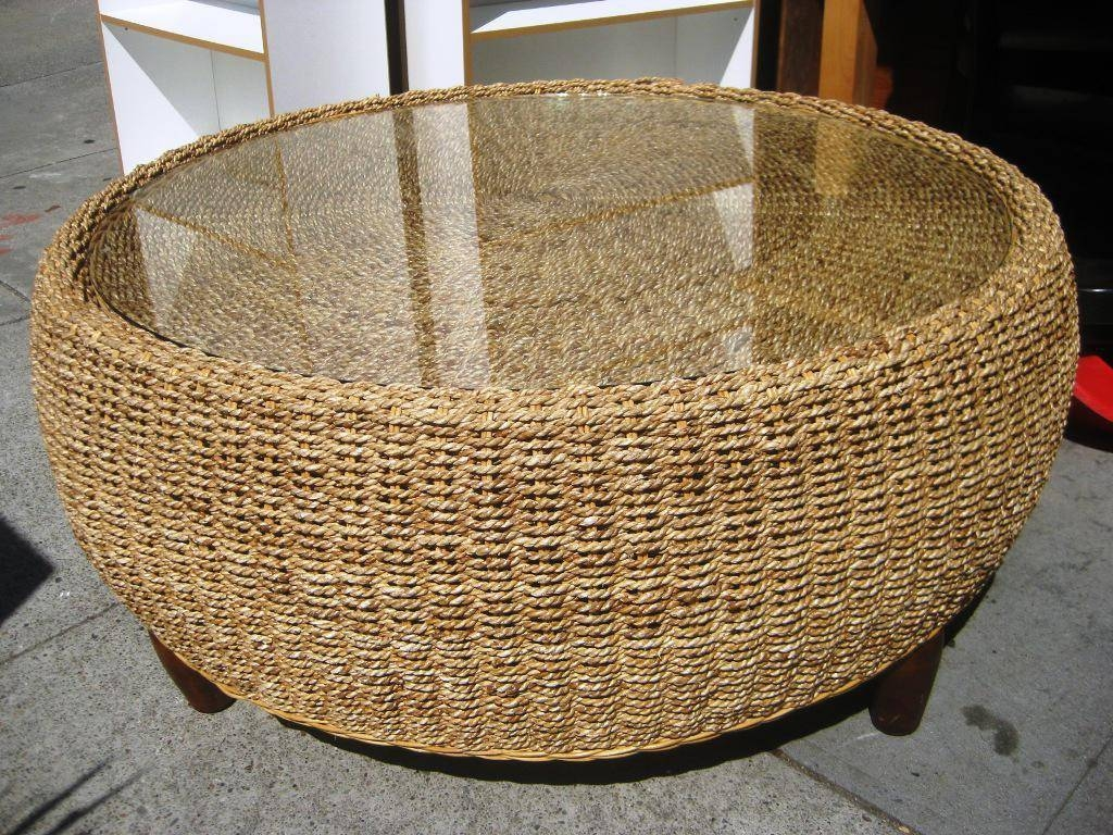 Natural Seagrass Coffee Table – Seagrass Furniture, Seagrass Trunk in Round Woven Coffee Tables (Image 16 of 30)