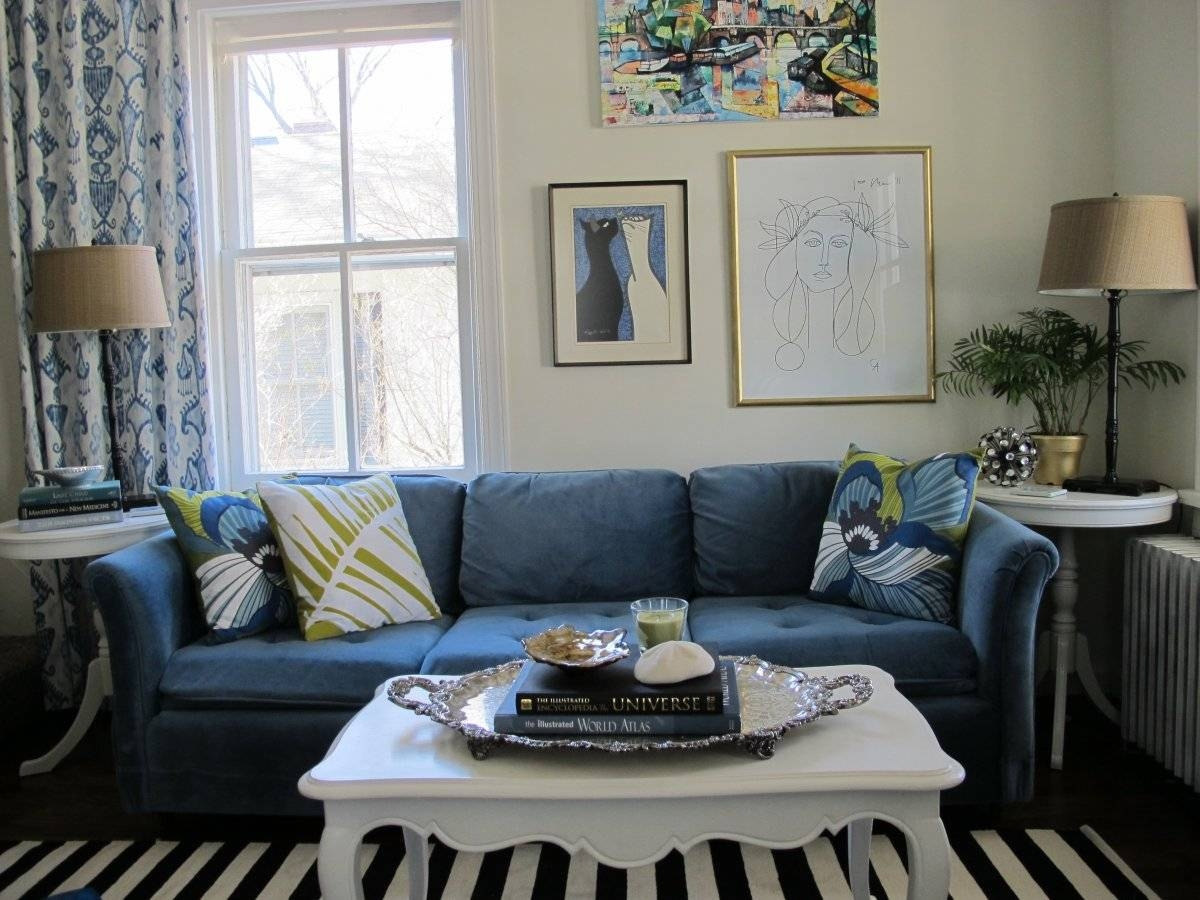 Navy Blue Sofa Living Room | Tehranmix Decoration intended for Dark Blue Sofas (Image 12 of 30)