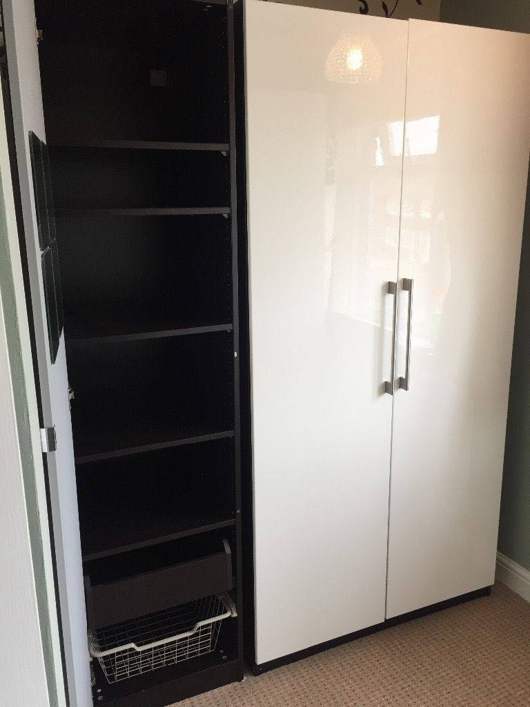 Needs To Be Collected Today Ikea Pax Triple Wardrobe With 1 Mirror for High Gloss Doors Wardrobes (Image 10 of 15)