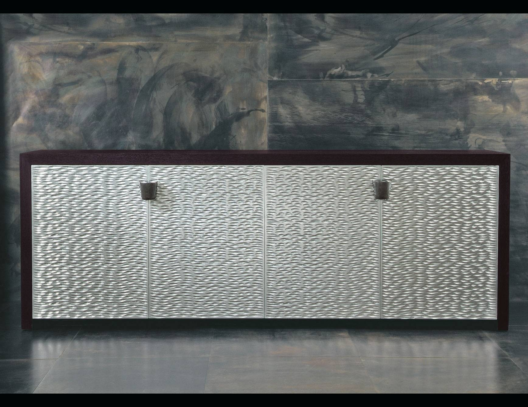 Nella Vetrina Rugiano Shiroma 6027/big Wenge Silver Sideboard regarding Black And Silver Sideboards (Image 16 of 30)