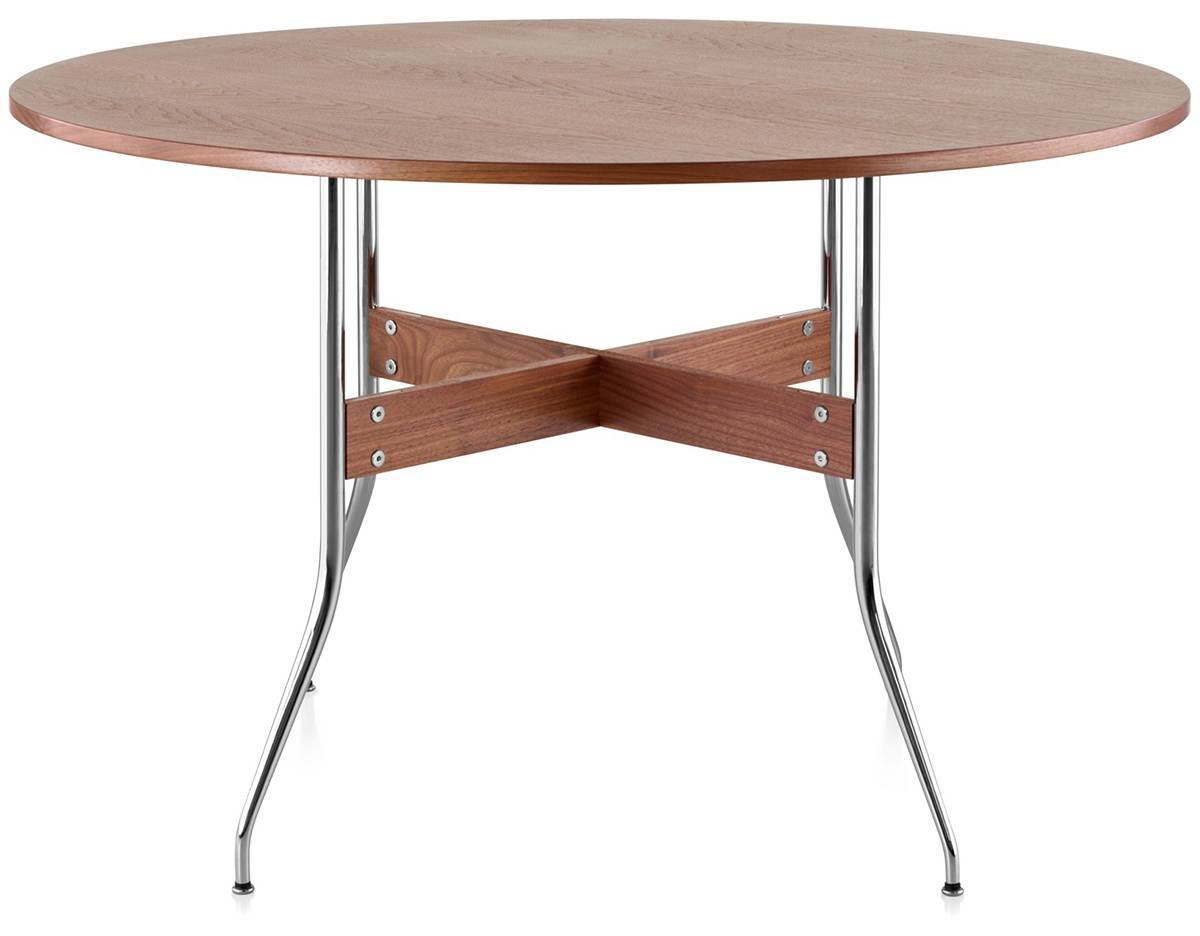 Nelson™ Swag Leg Round Dining Table - Hivemodern inside Nelson Coffee Tables (Image 25 of 30)