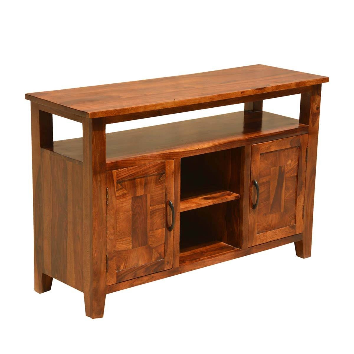 Nevada Traditional Solid Wood Buffet Rustic Sideboard Server throughout Real Wood Sideboards (Image 6 of 30)