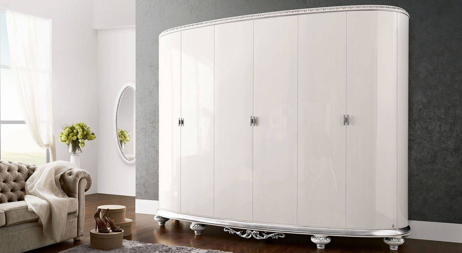 New Baroque Design Wardrobe / Wooden / With Swing Doors - Venezia within Baroque Wardrobes (Image 13 of 15)