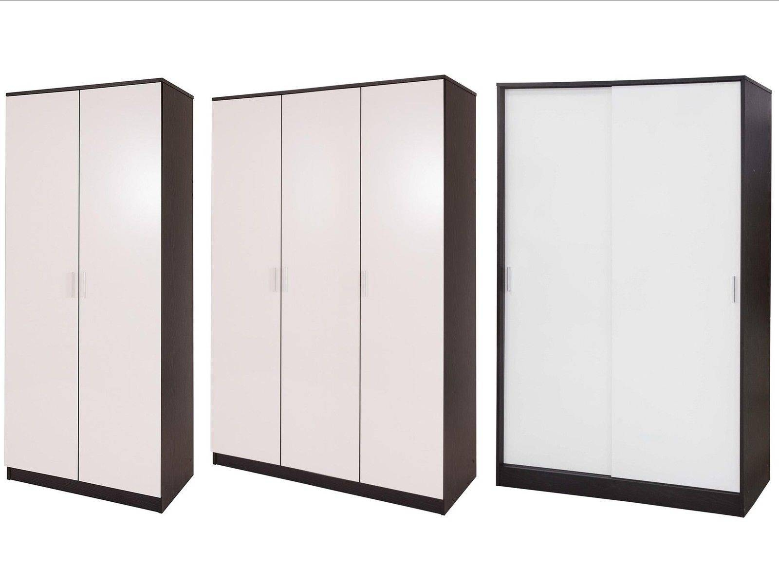 New Caspian High Gloss Wardrobes Sliding Or Standard 2 Or 3 Door in 3 Door Black Wardrobes (Image 12 of 15)