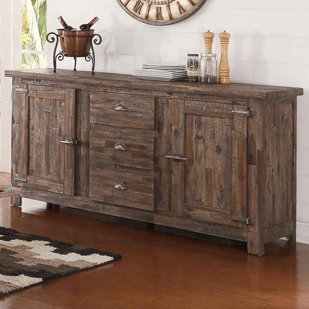 New Classic Tuscany Park Sideboard With Freezer Style Door Latches with regard to Tuscany Sideboards (Image 10 of 30)