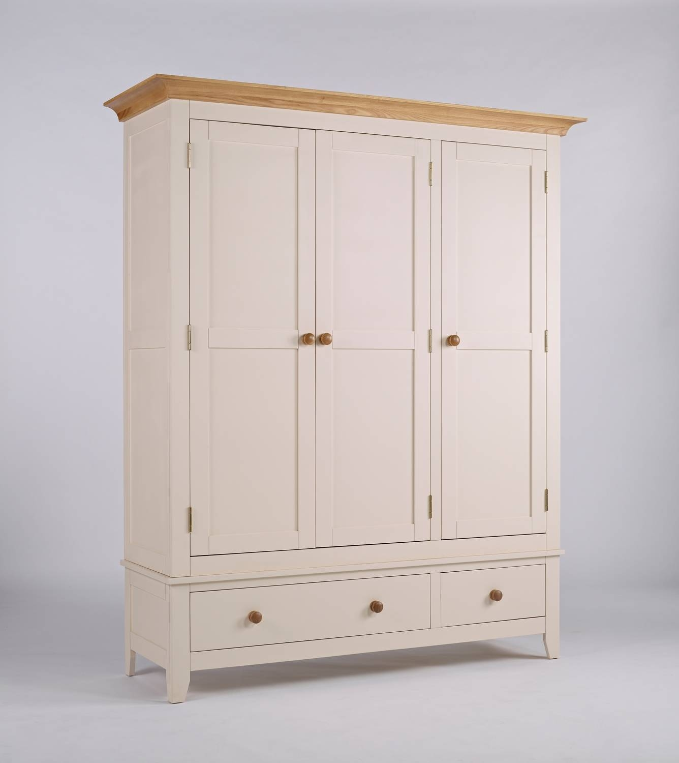 New England Ivory Large Wardrobe | Hampshire Furniture in Ivory Wardrobes (Image 13 of 15)