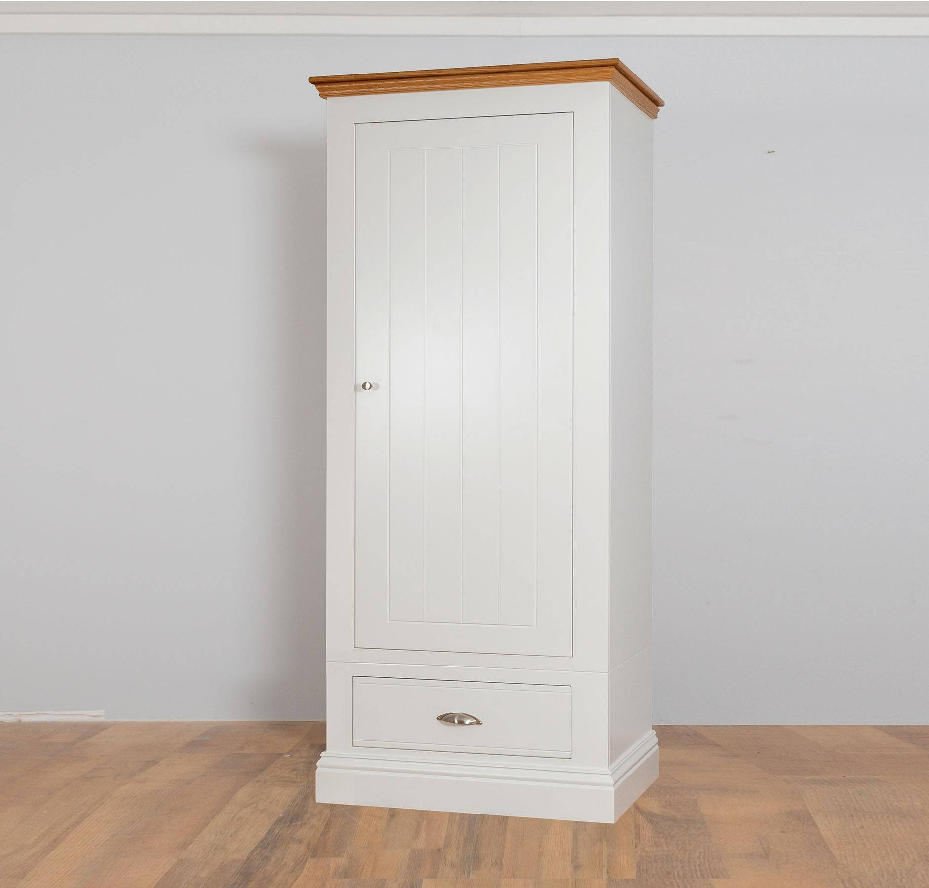 New England Painted 1 Door 1 Drawer Wardrobe In 2 Heights intended for Painted Wardrobes (Image 7 of 15)