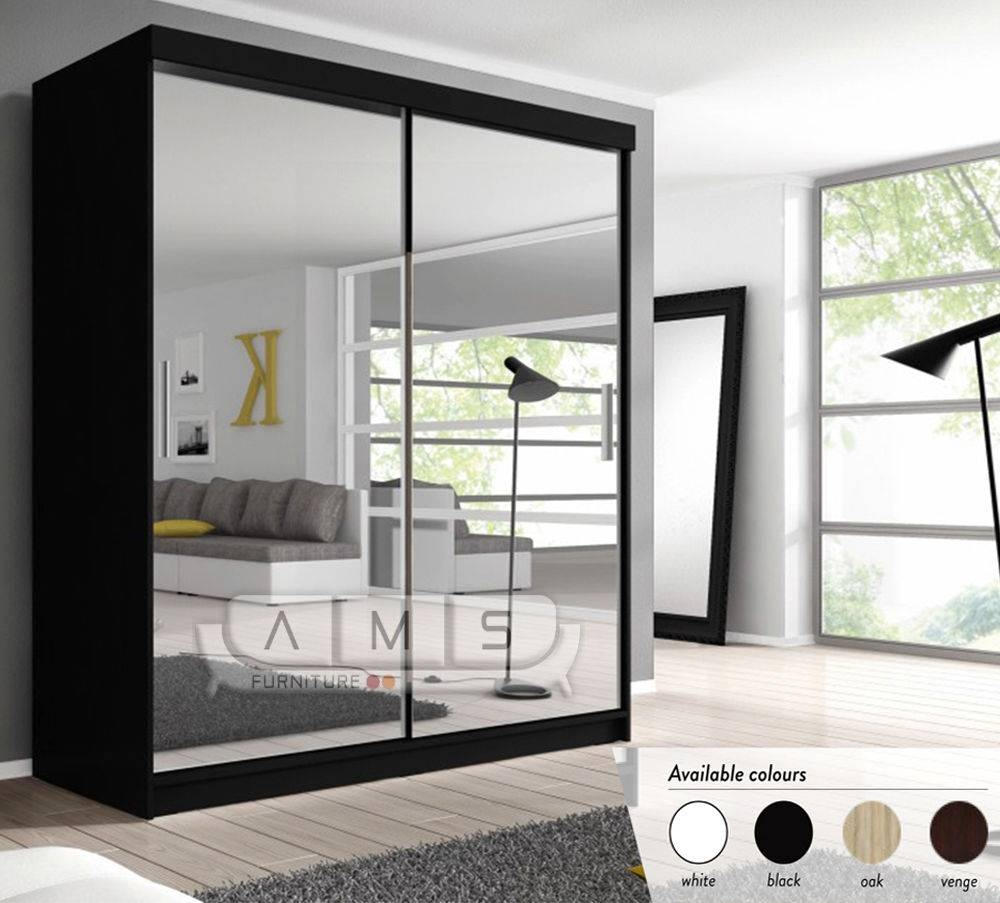New Full Mirrored Sliding Door German Wardrobe With Shelves intended for Full Mirrored Wardrobes (Image 10 of 15)