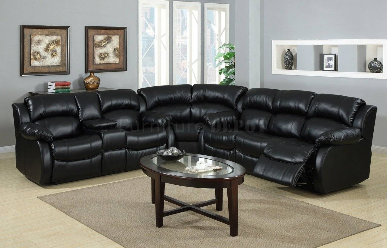 New Ideas Black Leather Sofa Recliner With Ventura Contemporary regarding Modern Reclining Leather Sofas (Image 19 of 30)
