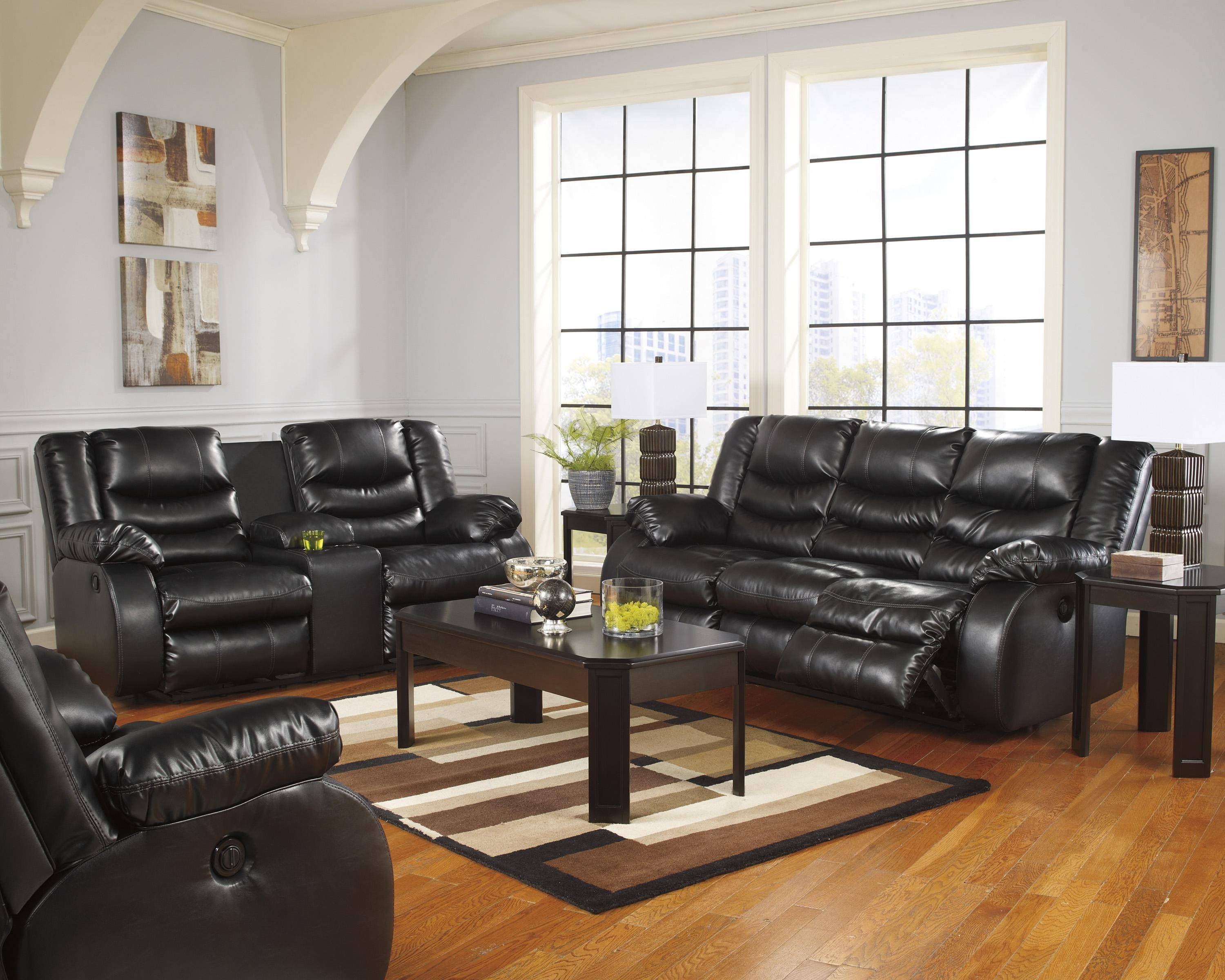 New Ideas Black Leather Sofa Recliner With Ventura Contemporary Within Contemporary Black Leather Sofas (View 20 of 30)