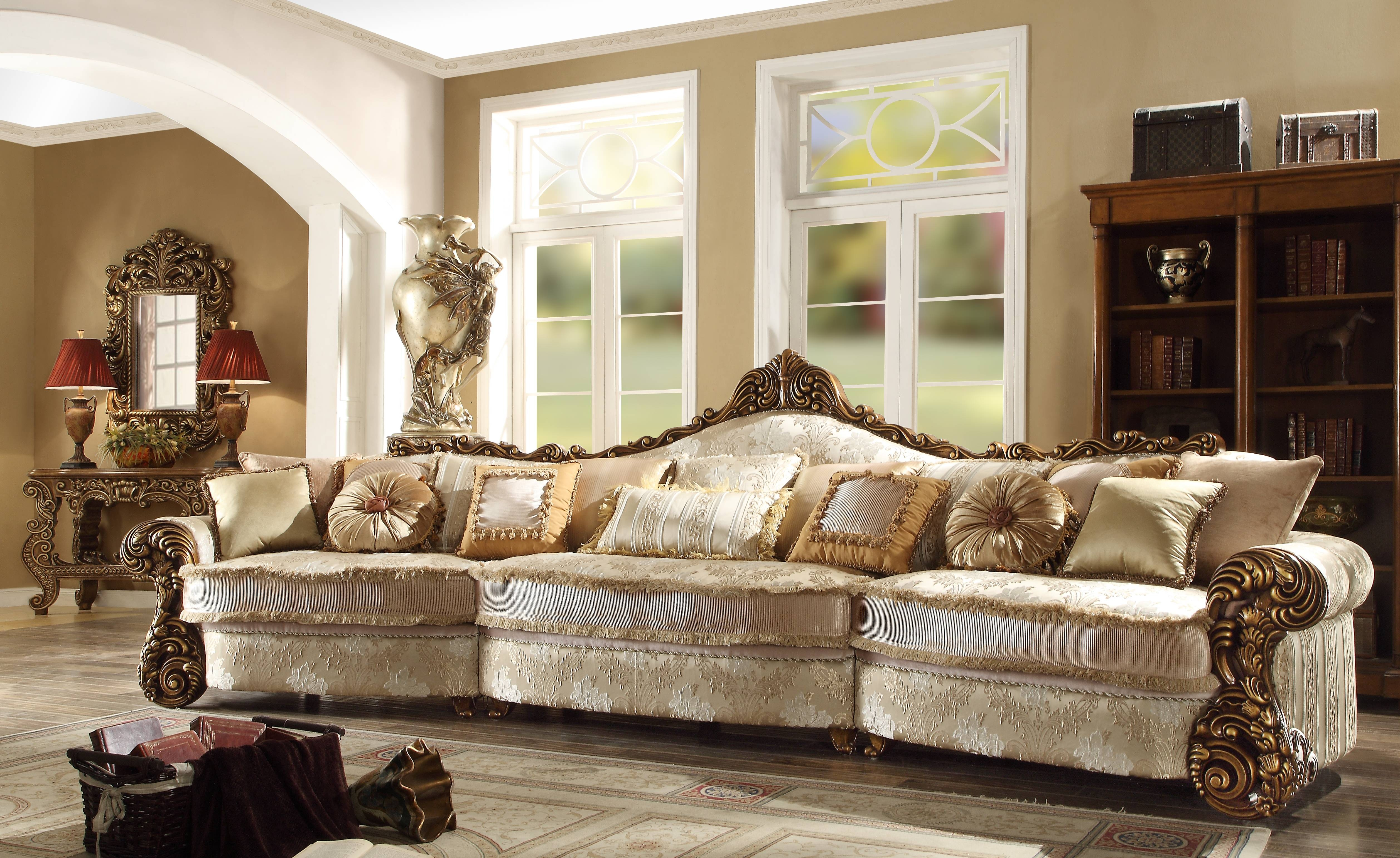 New Luxury Formal Classic European Style 5 Seat Sectional Sofa Hd with regard to European Style Sofas (Image 17 of 30)