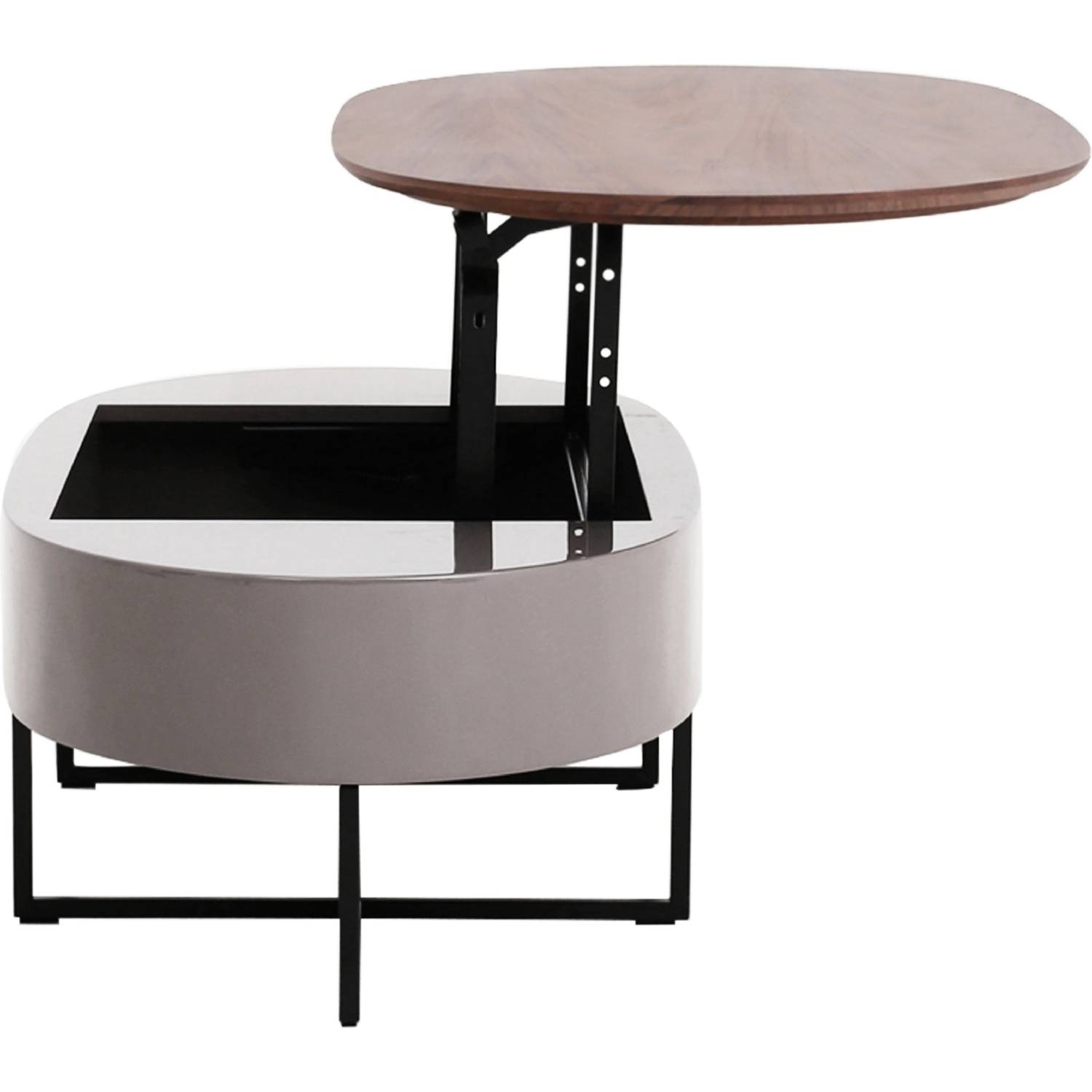 New Pacific Direct 1030001 Hansel Oval Lift Top Coffee Table In Intended For Oval Walnut Coffee Tables (View 21 of 30)