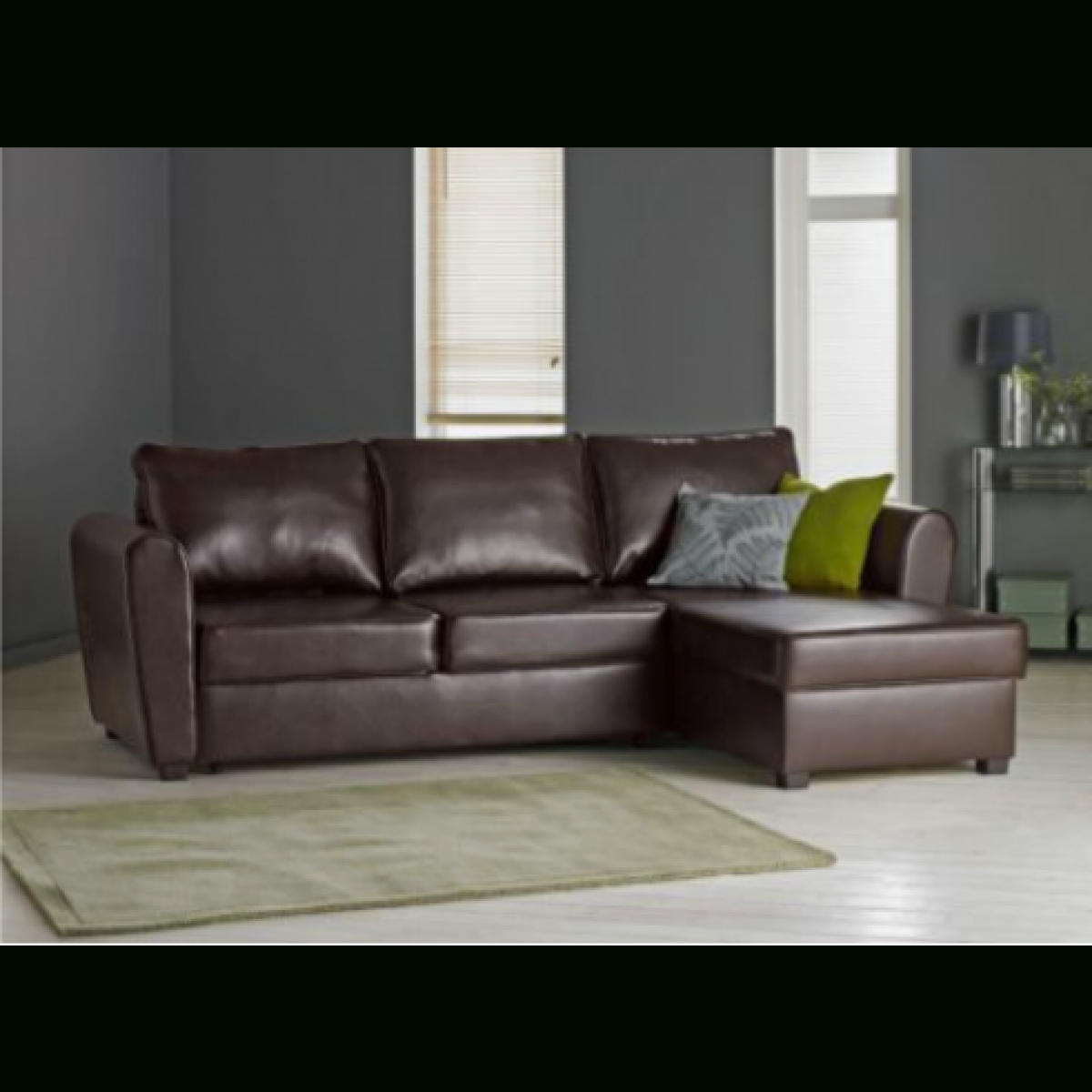 New Siena Fabric Corner Sofa Bed With Storage - Charcoal in Leather Sofa Beds With Storage (Image 19 of 30)